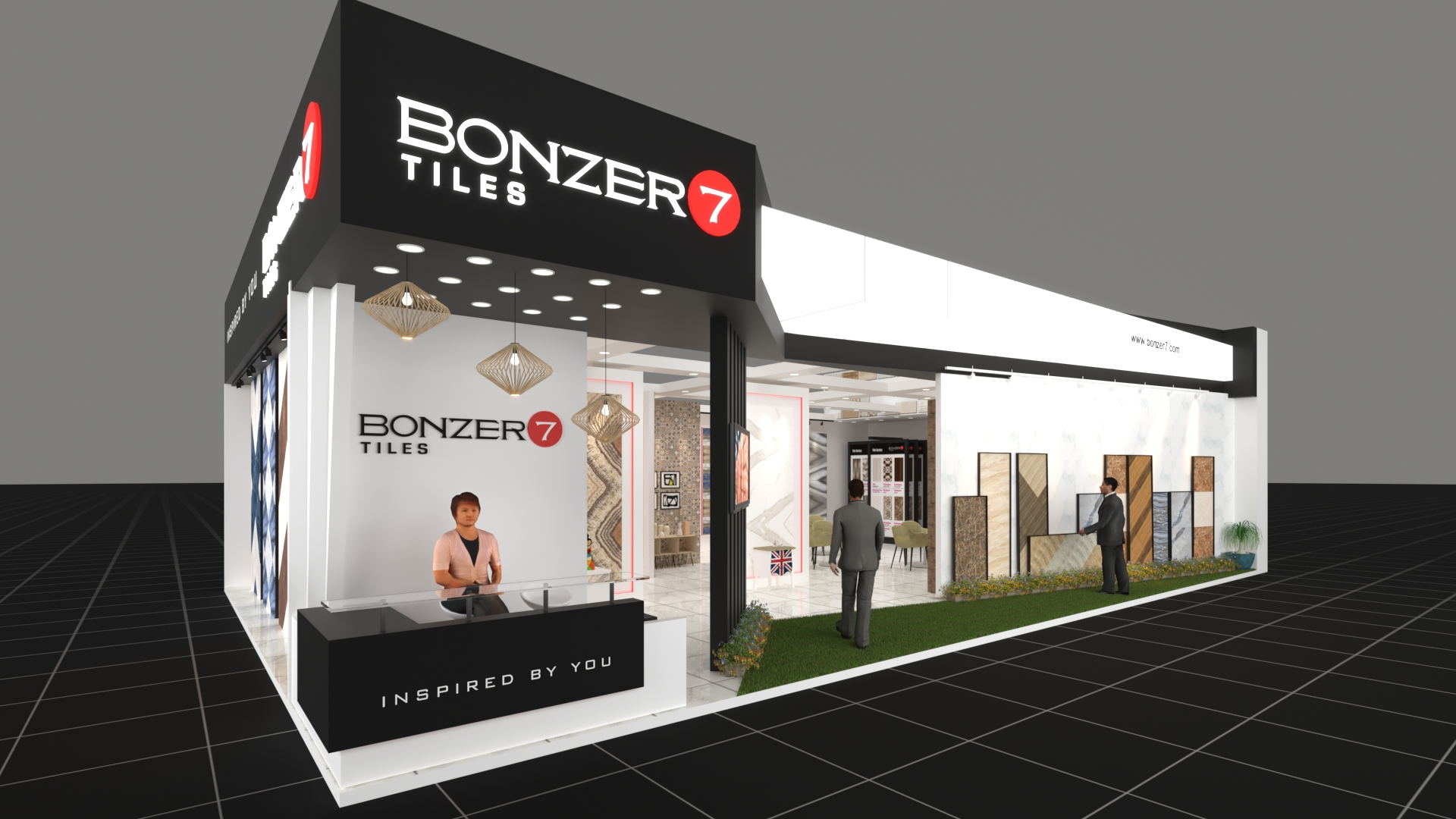 Exhibition Stall On Behance : Bonzer stall at vibrant ceramics gandhinagar on behance