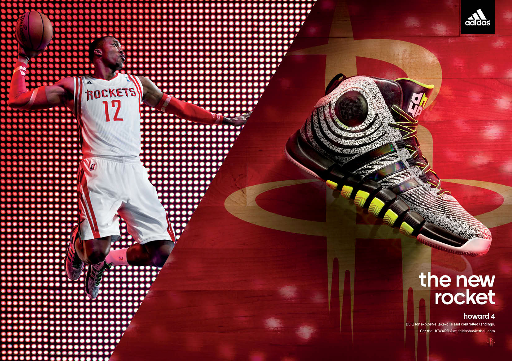 9d2978eb49fb adidas Dwight Howard 4 shoe campaign. Conceptualized