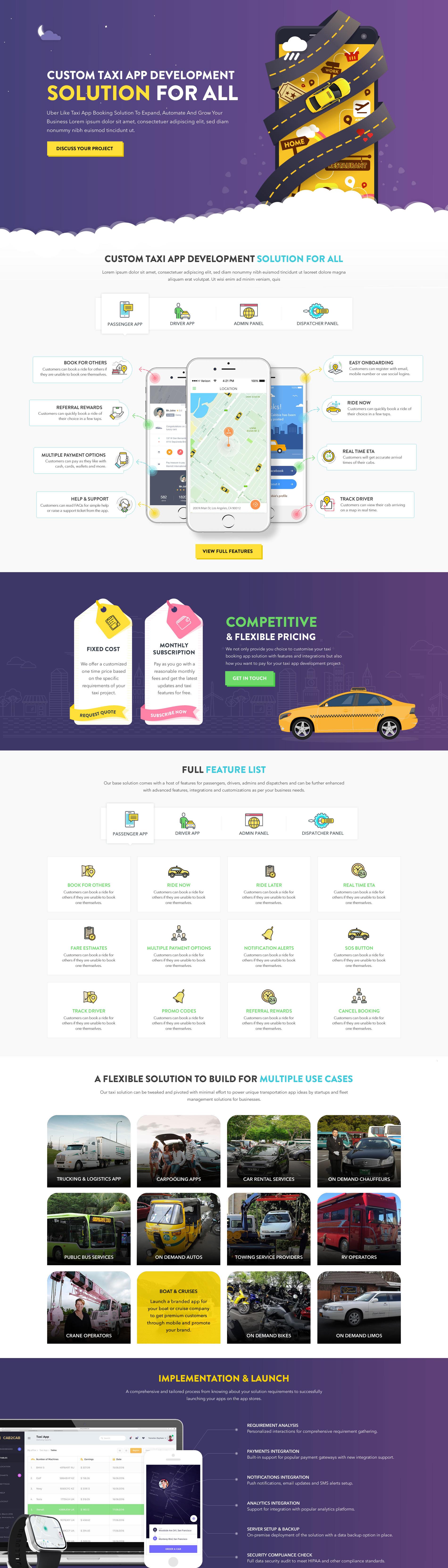 Taxi app development on Behance