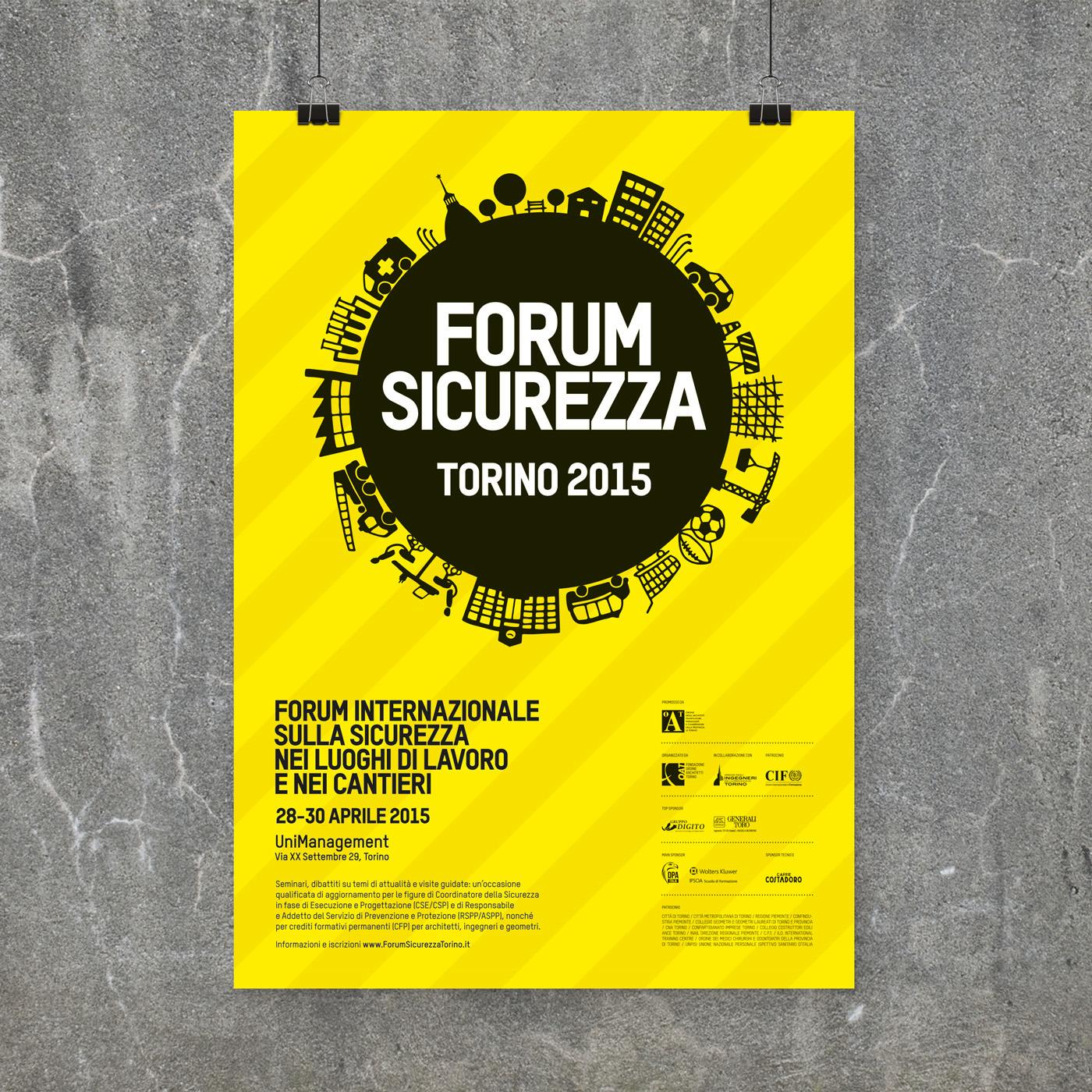 Lavoro Per Architetti Torino forum sicurezza torino 2015 on behance