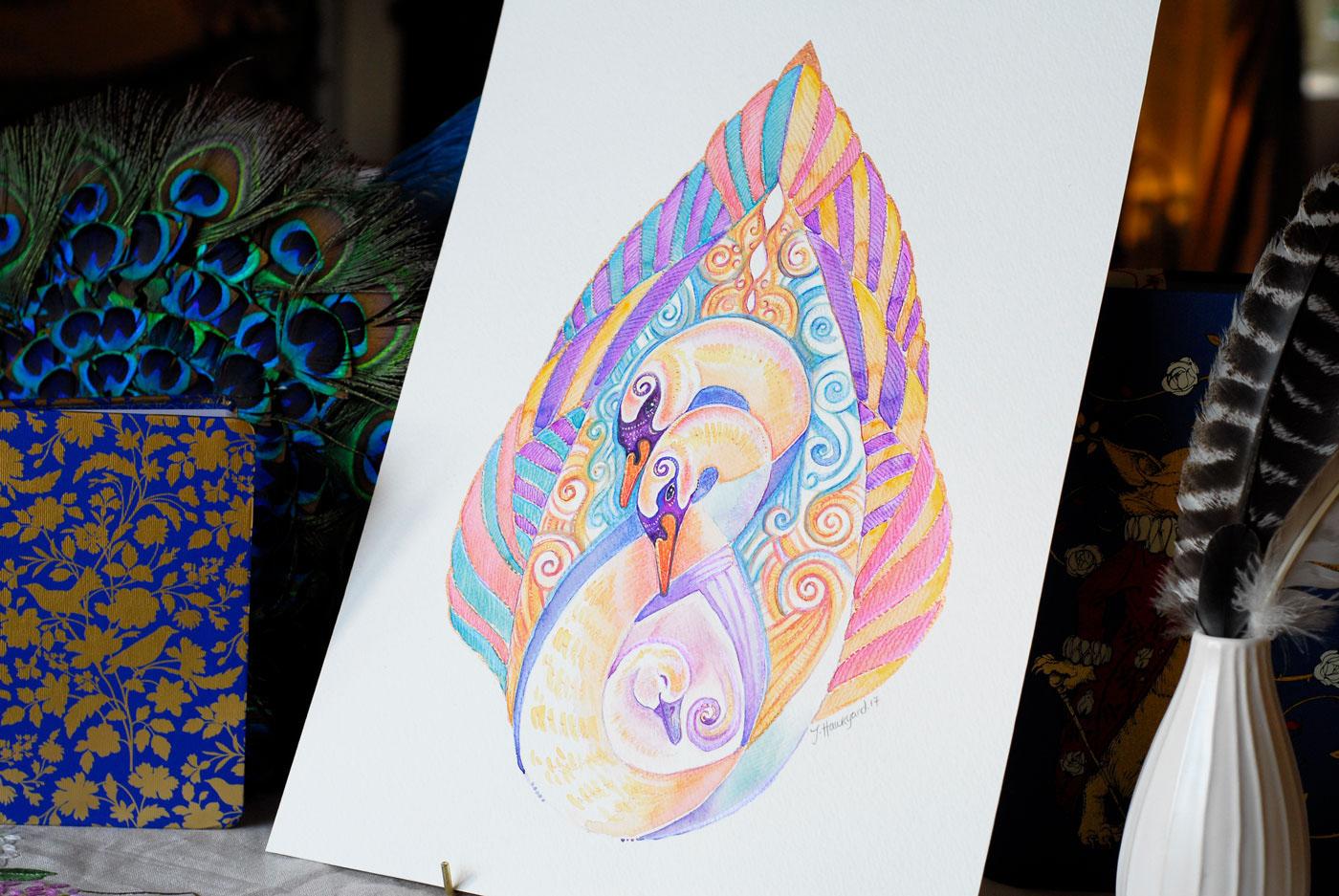 Full view photo of Swan Totem by Jennifer Hawkyard