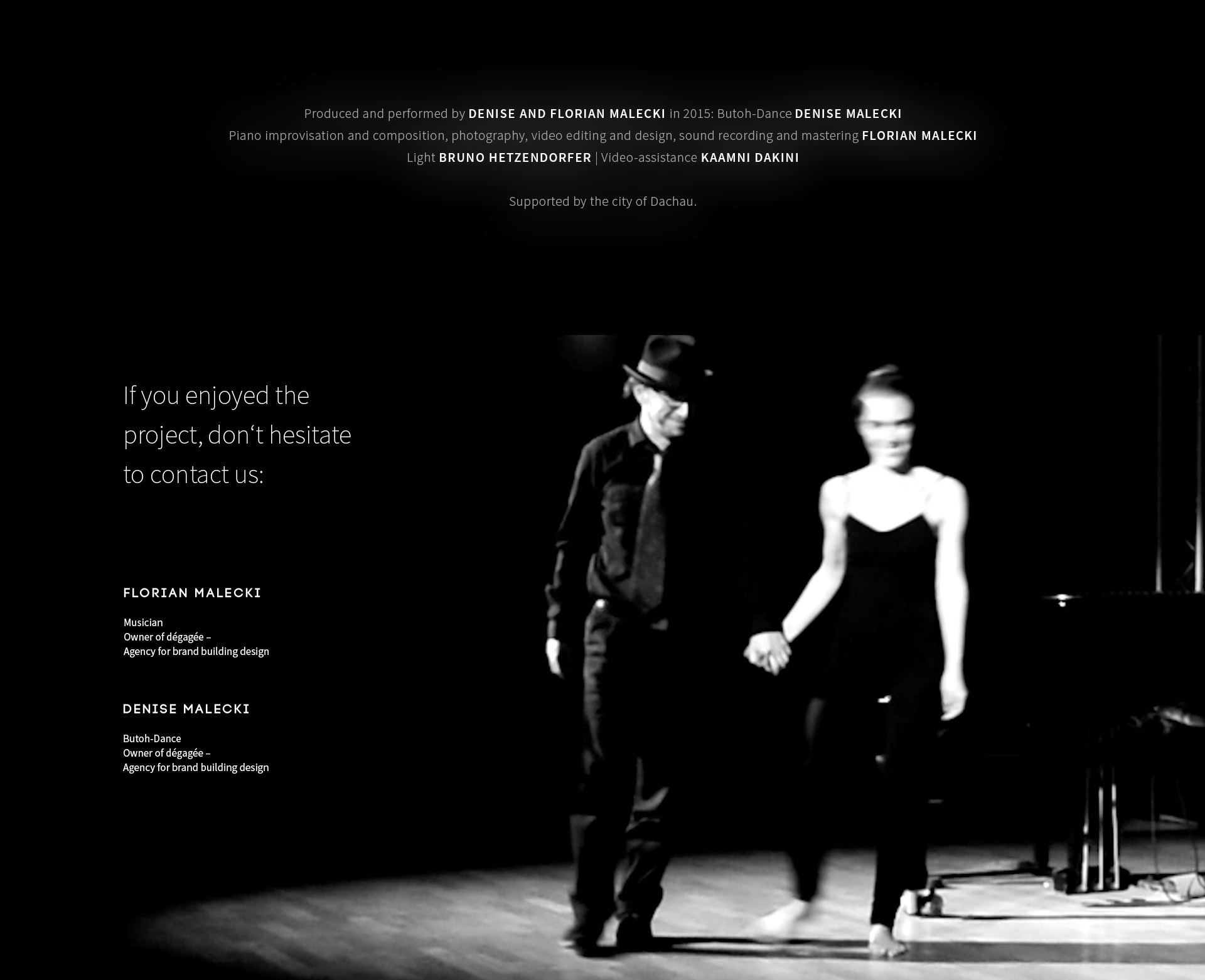 Video of Butoh-performance with piano music on Behance