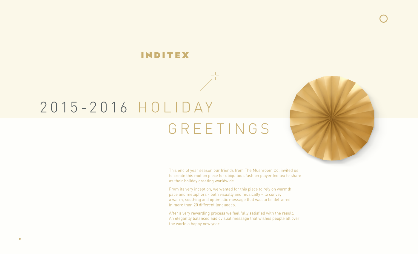 Inditex 2015 2016 holiday greetings on behance live m4hsunfo