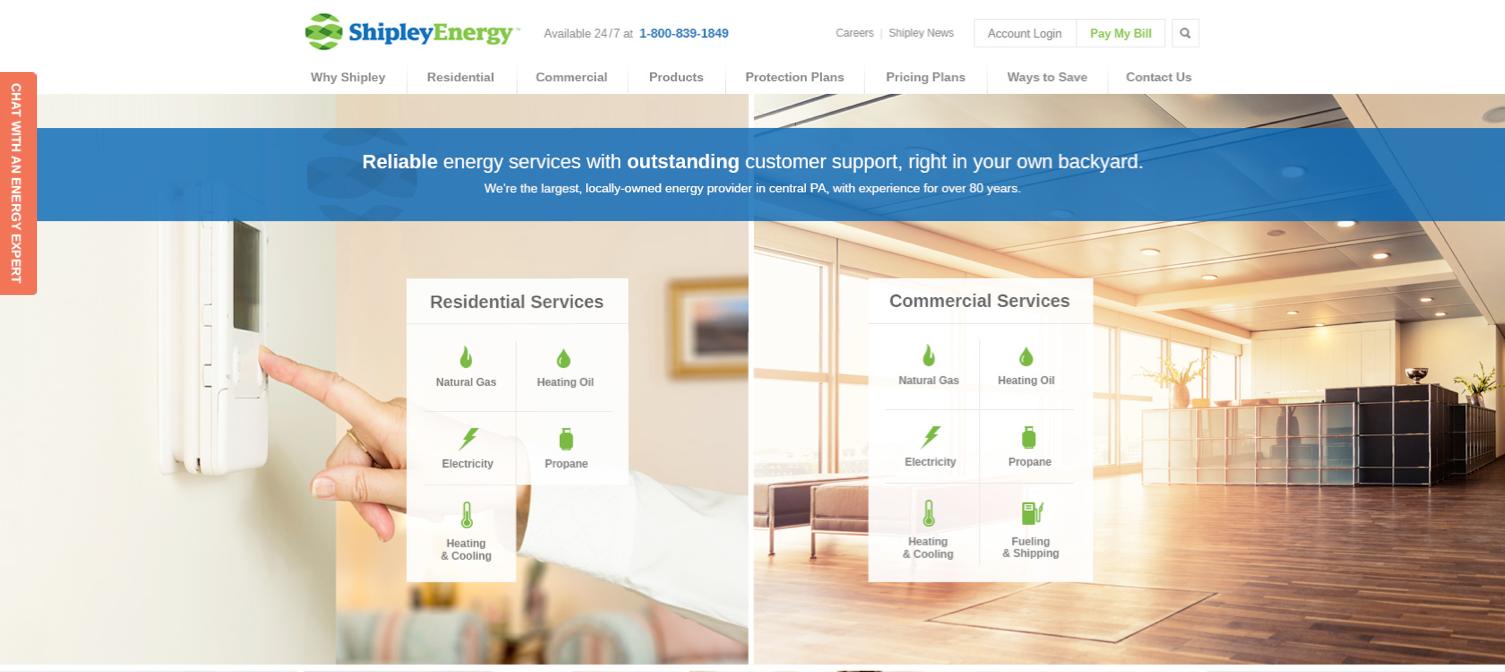 Kelcey Hurst Graphic Web Designer Lancaster Pa Website Design For Shipley Energy