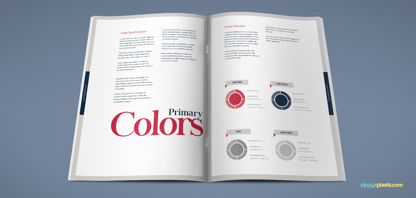 The Harmony - Free Brand Book Template on Behance