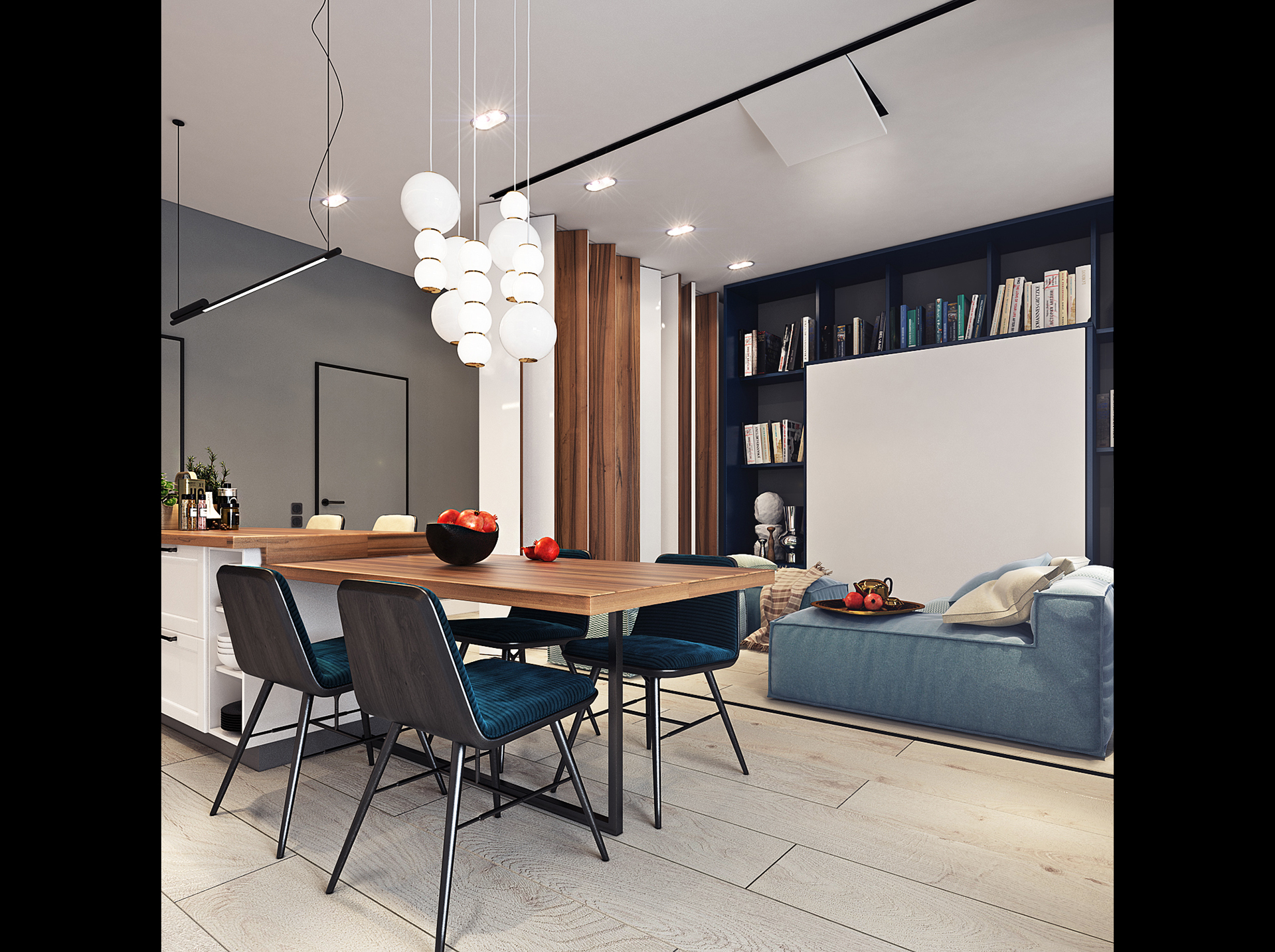 Design project of the apartment in zagreb 50 sq m on behance