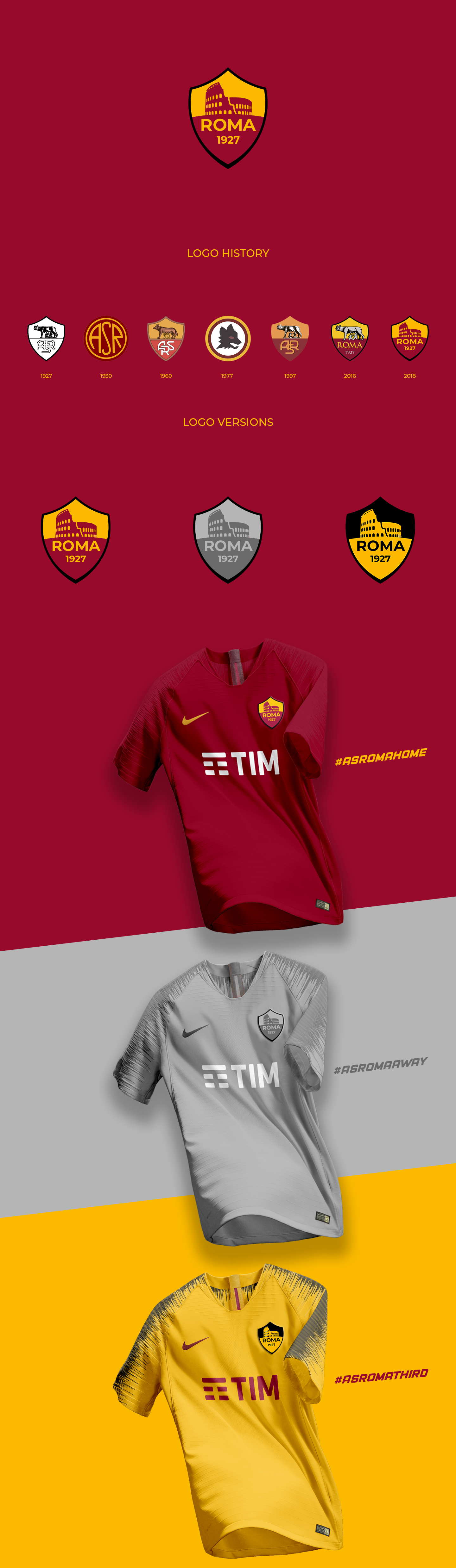 As Roma Branding And New Logo 2018 On Behance