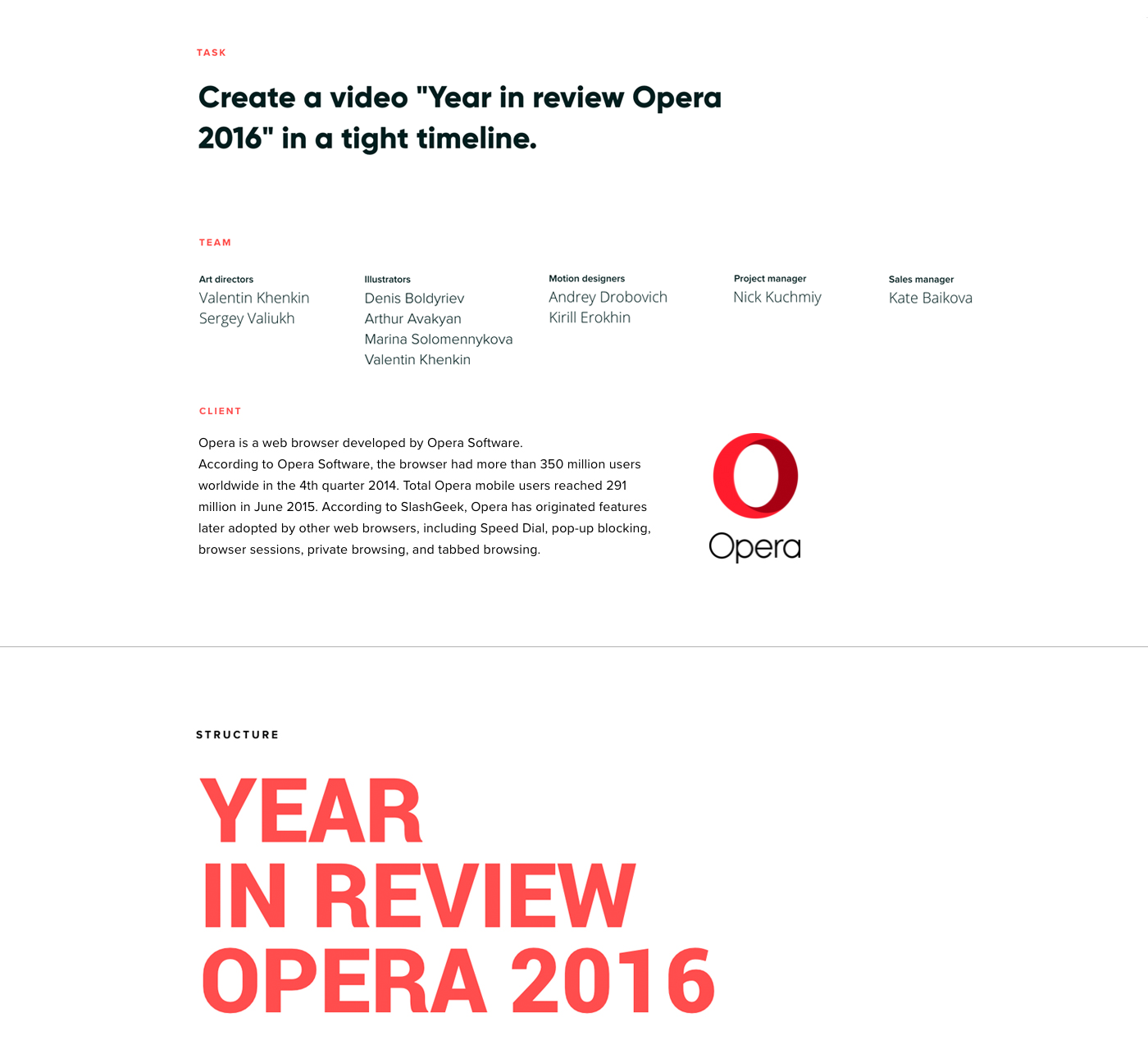 Year in review Opera 2016  Animation on Behance