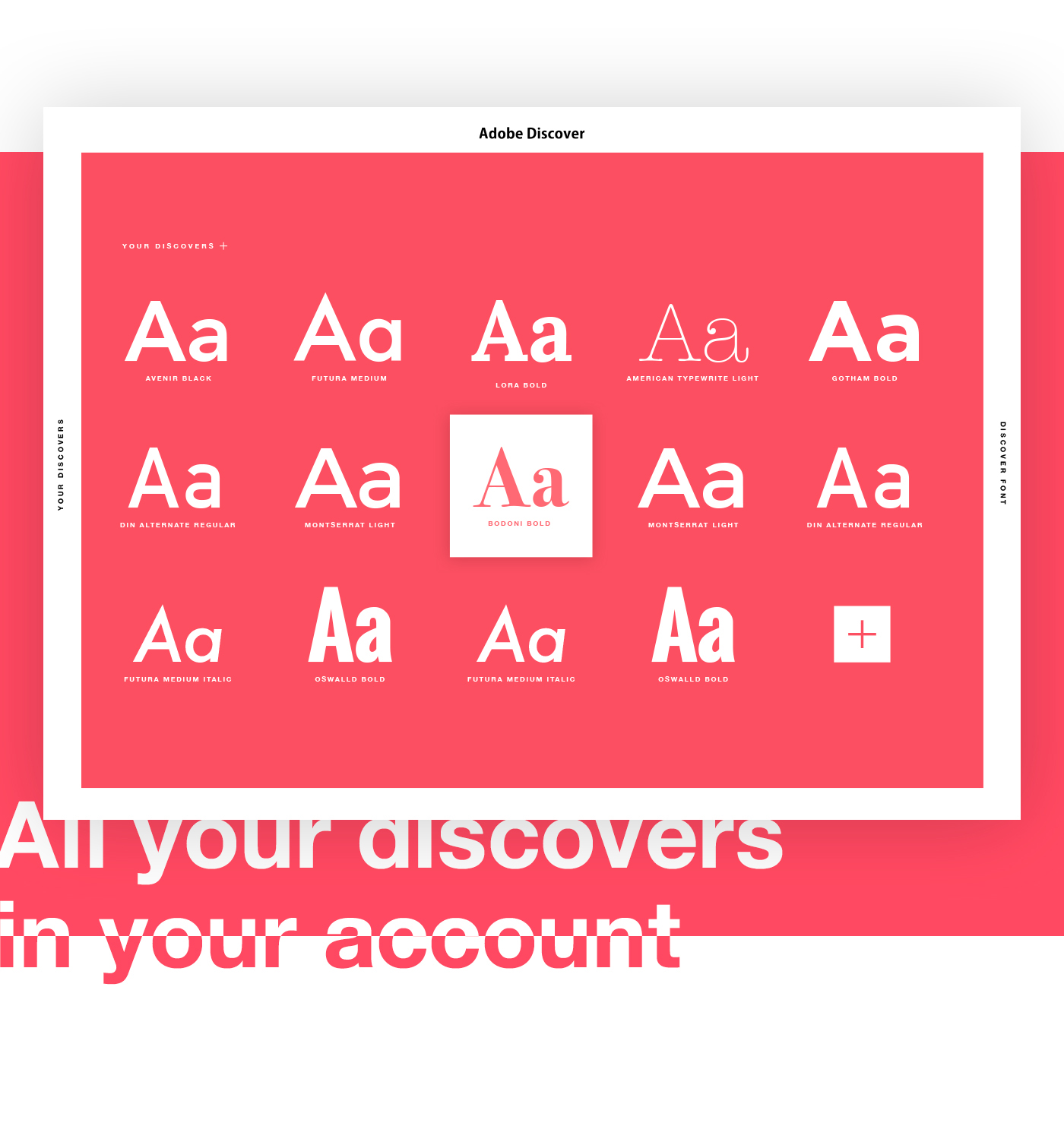 Adobe Discover  Find your font  on Behance