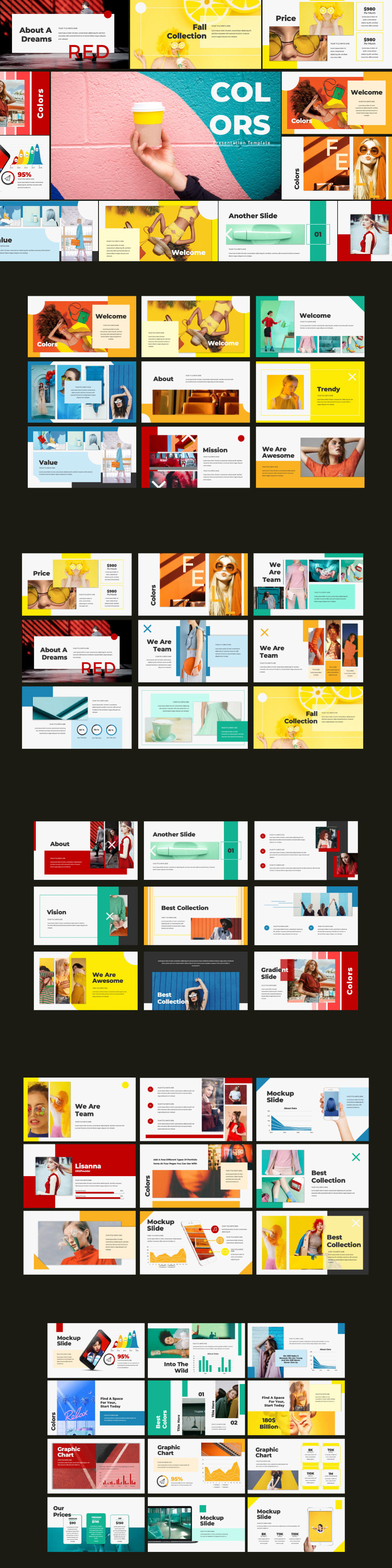 Colors Free Powerpoint Template On Behance
