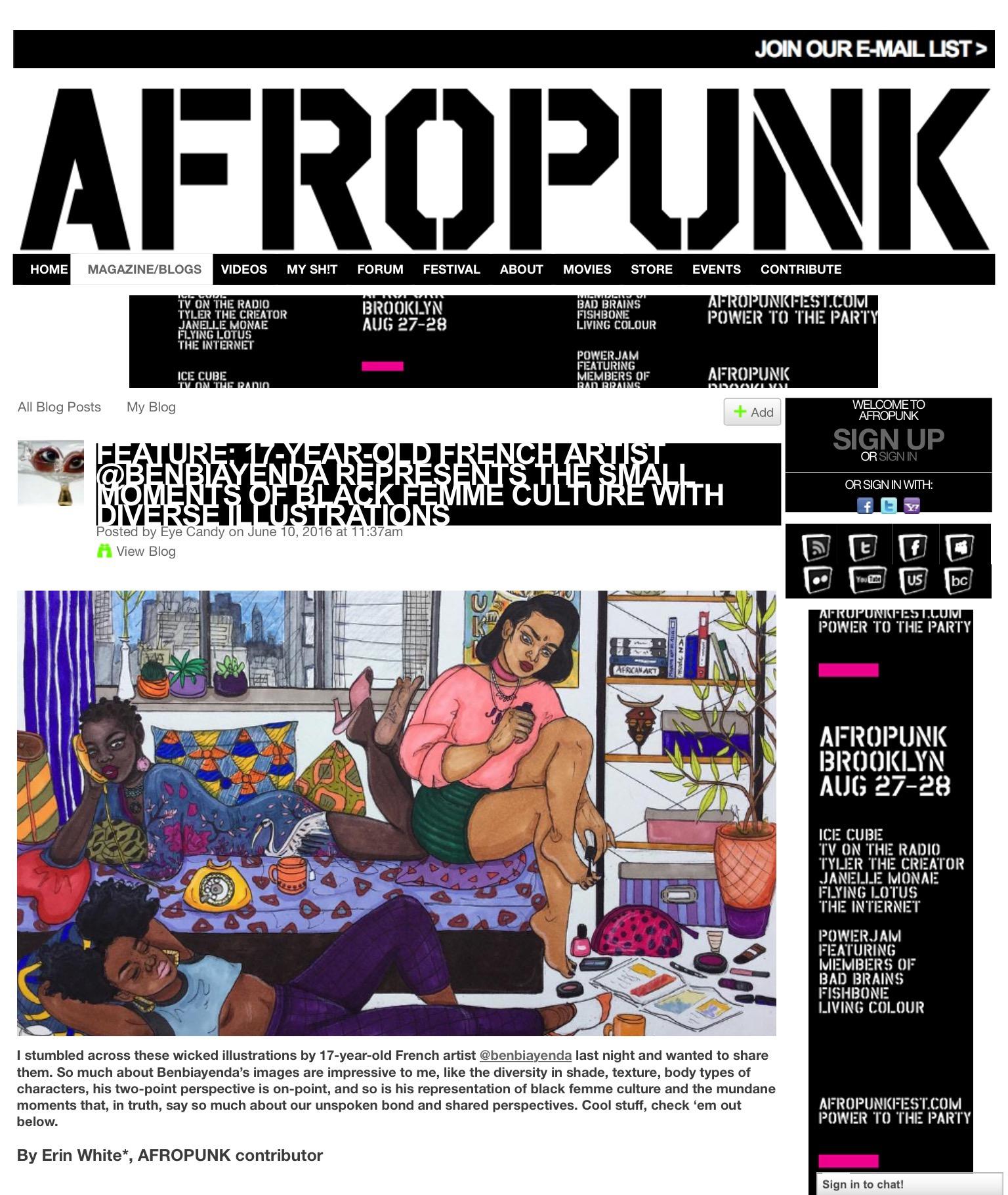 Feature in AfroPunk