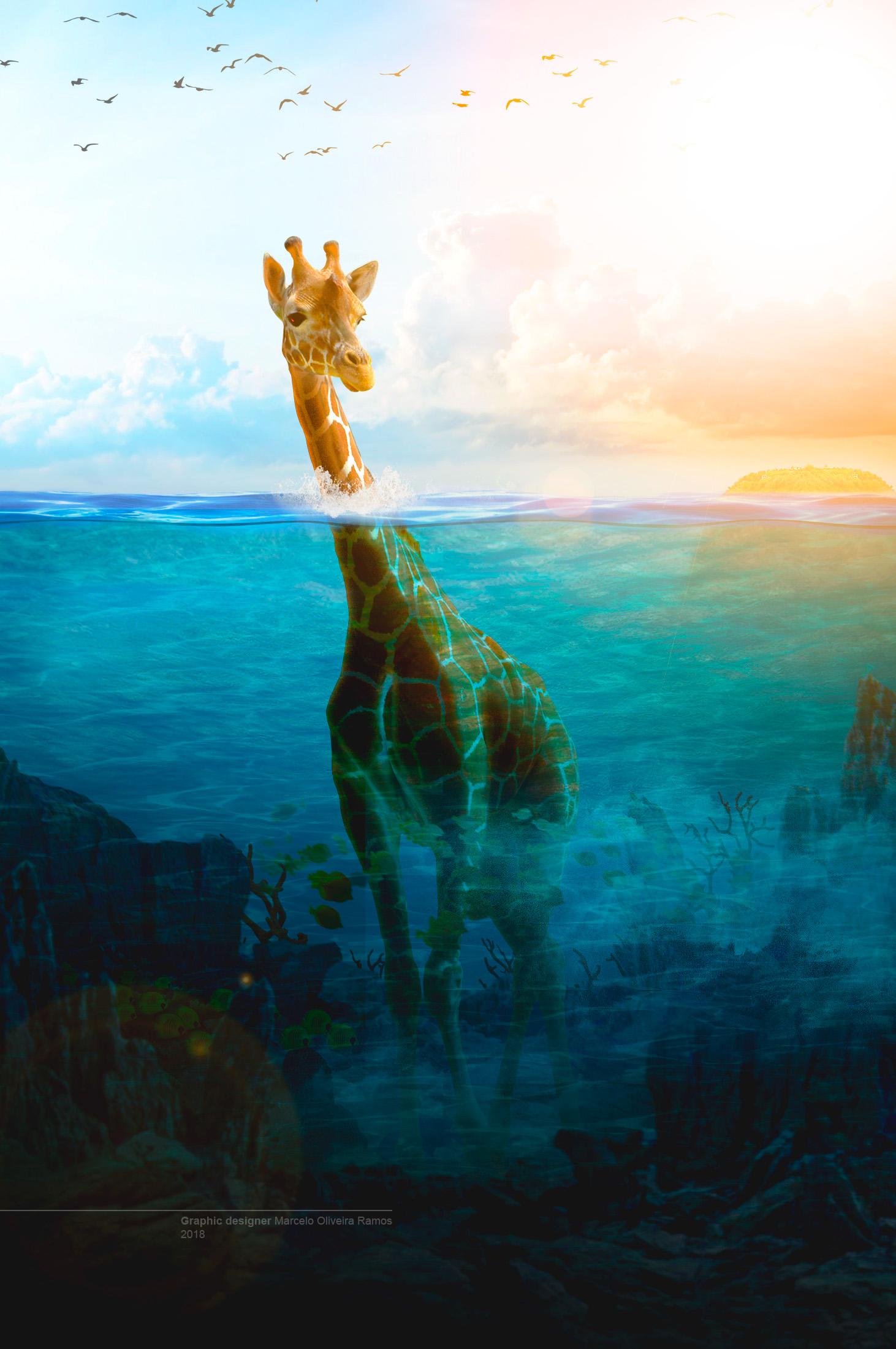 жираф в воде картинки прикол извлечем любого цифрового