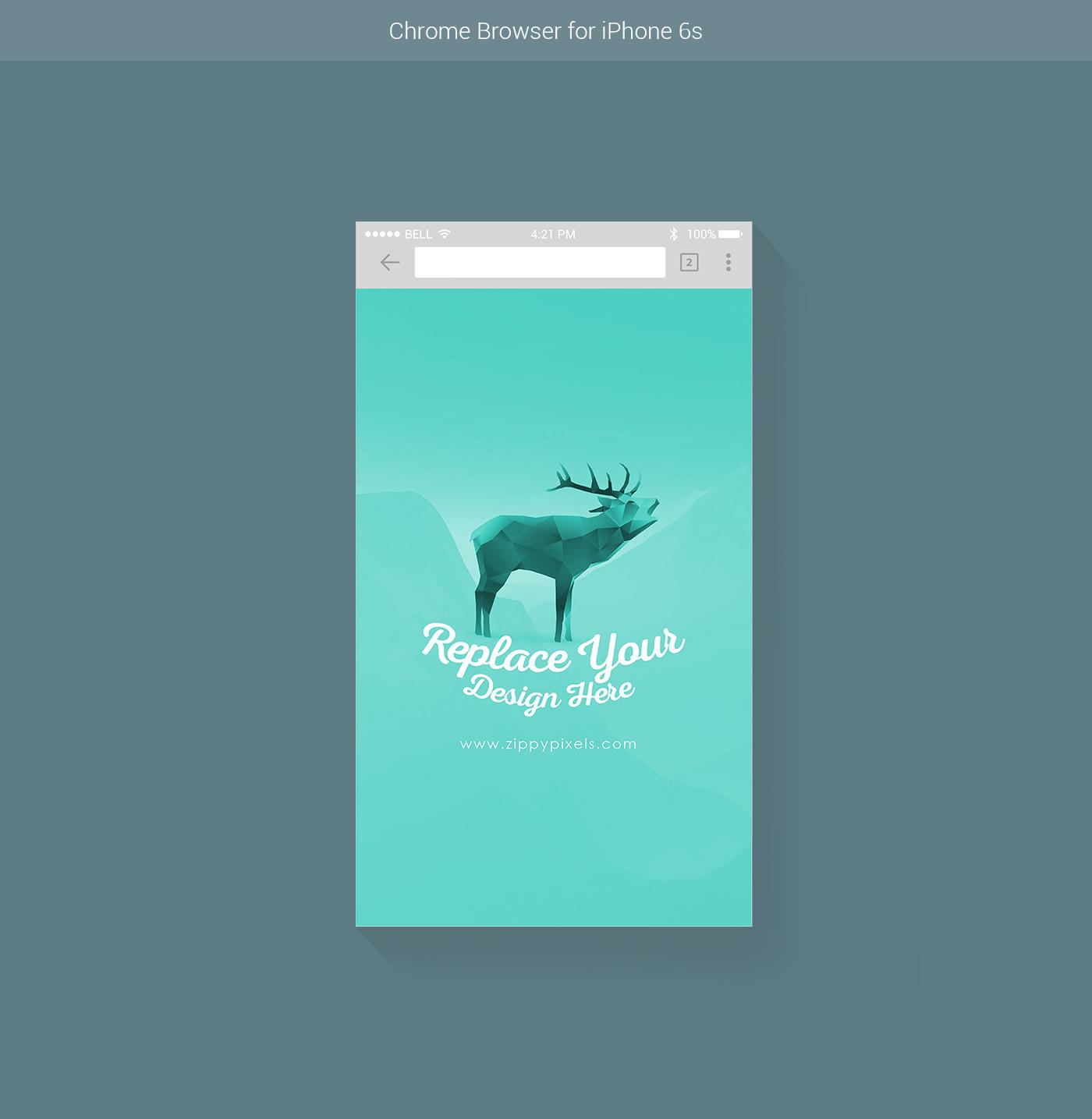 7 Free Vector Web & Mobile Browser Mockups on Behance