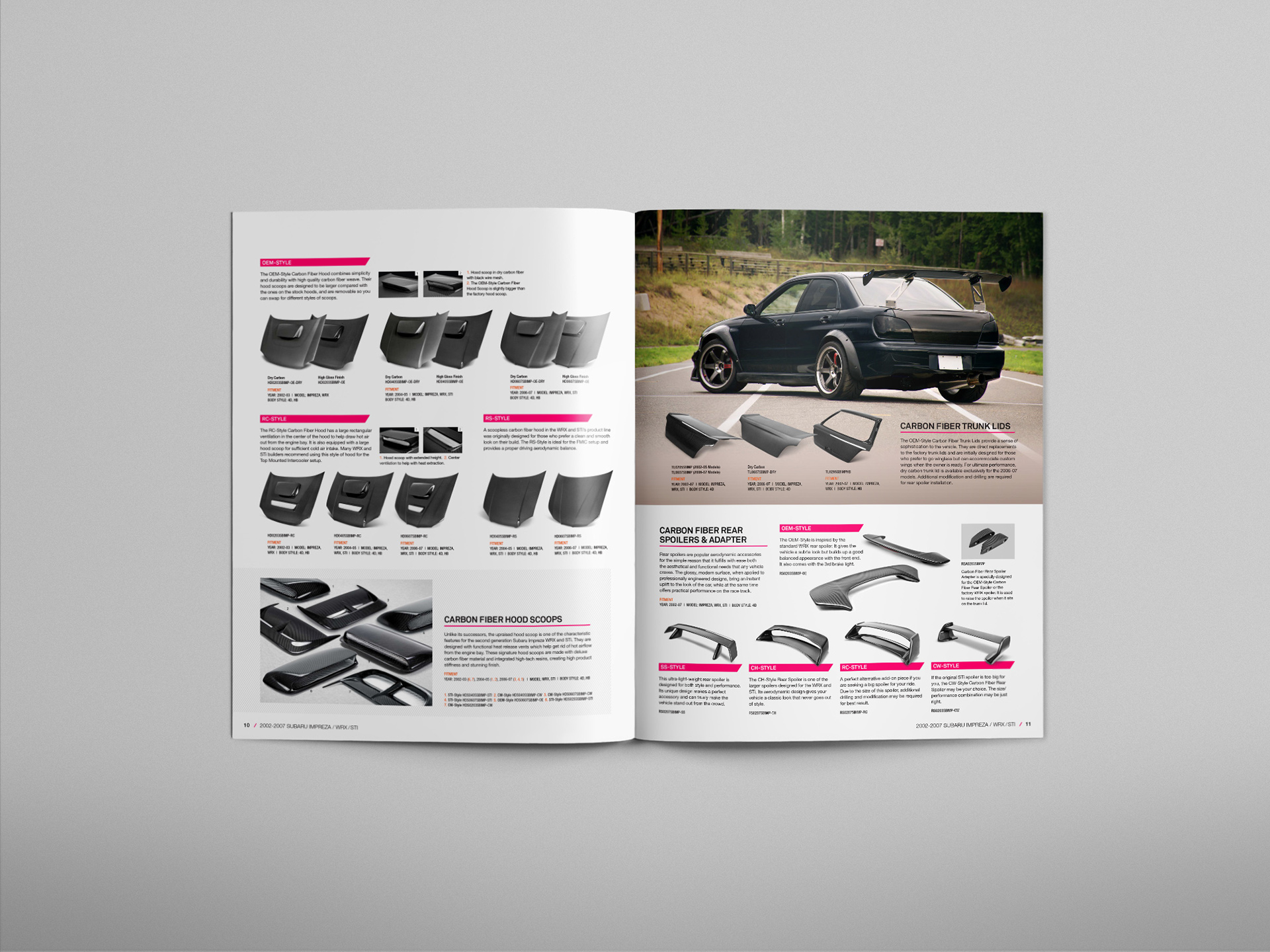 Subaru Impreza WRX/STI Product Catalog on Behance