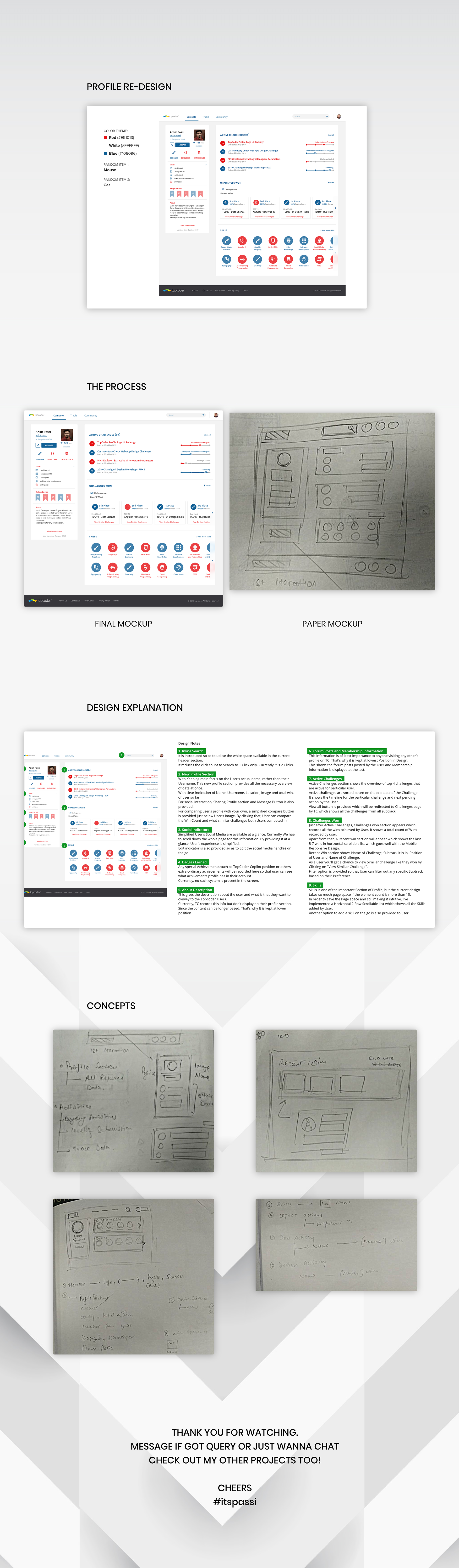 Topcoder Profile Redesign - Design Process