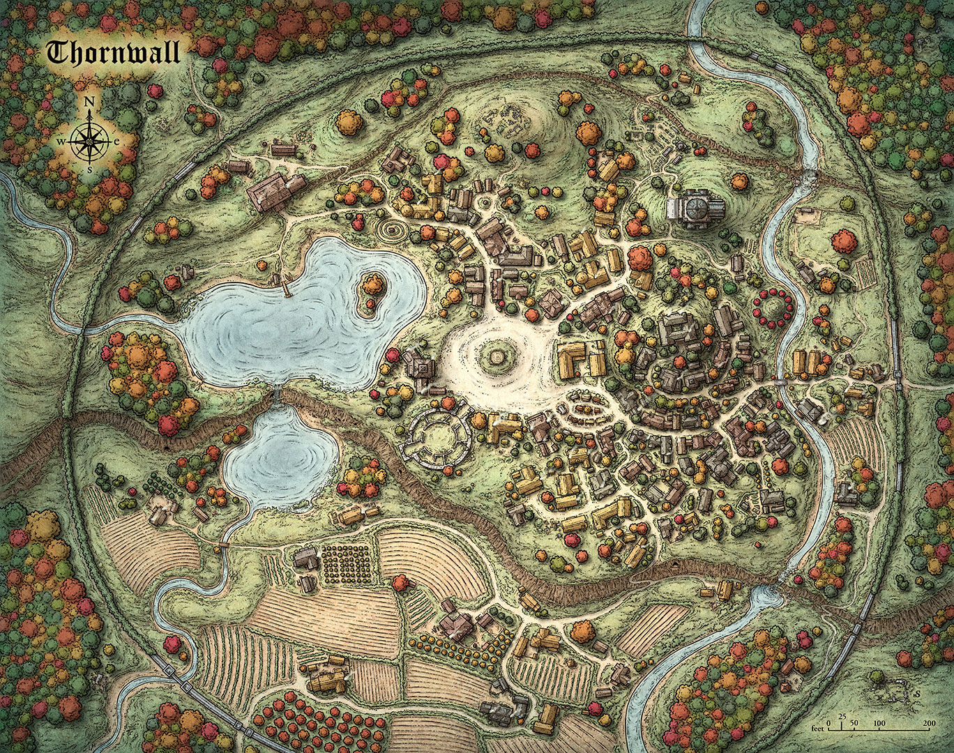 Thornwall Map
