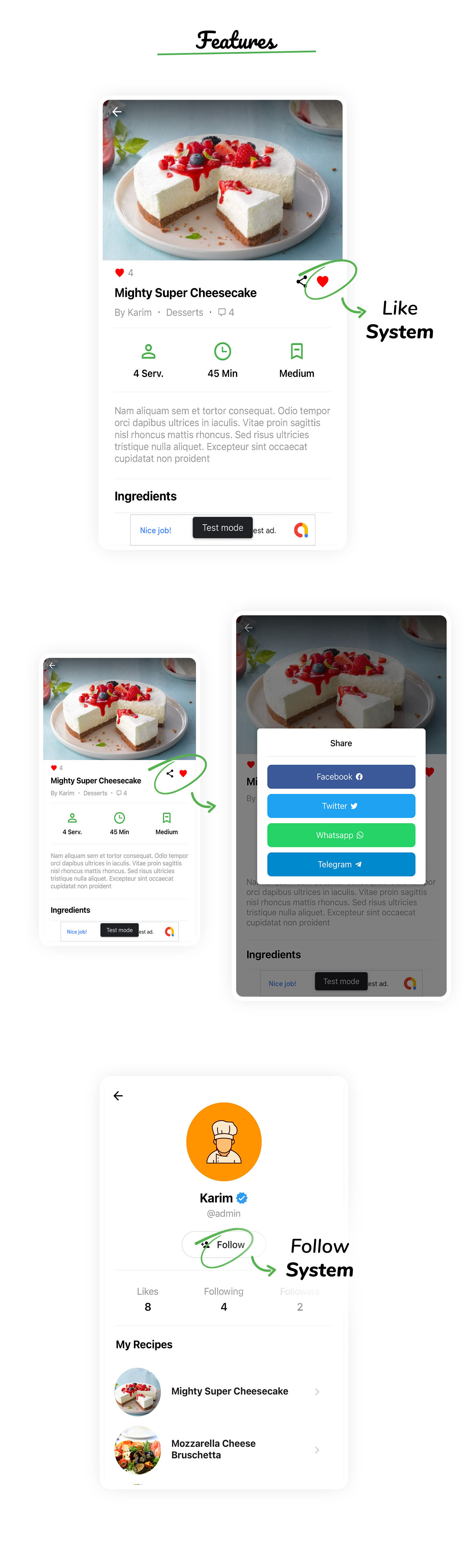 RealFood Mobile |  React Native Recipes & Community Food - 4
