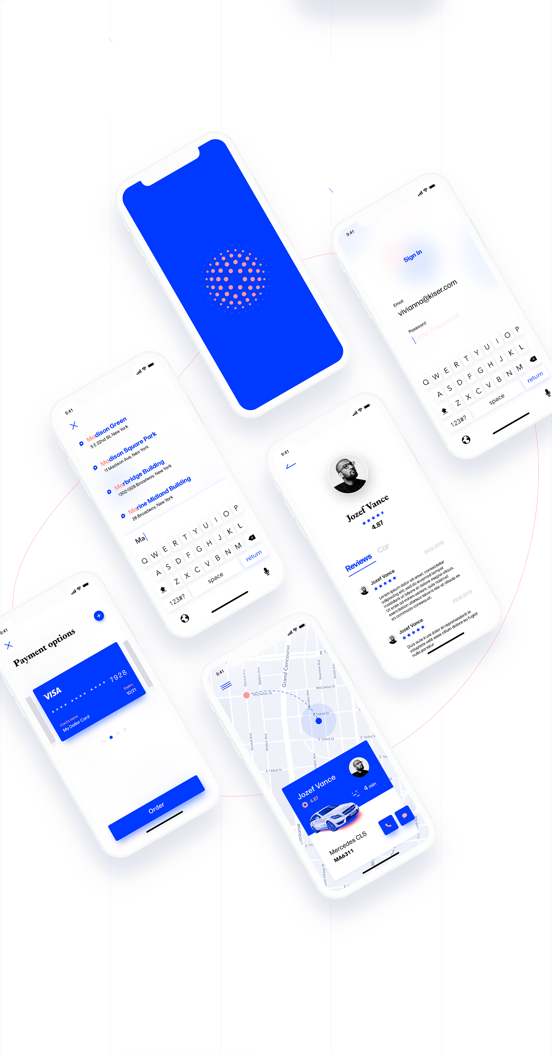 Mobile App Design: NYC Taxi App Concept using Adobe XD