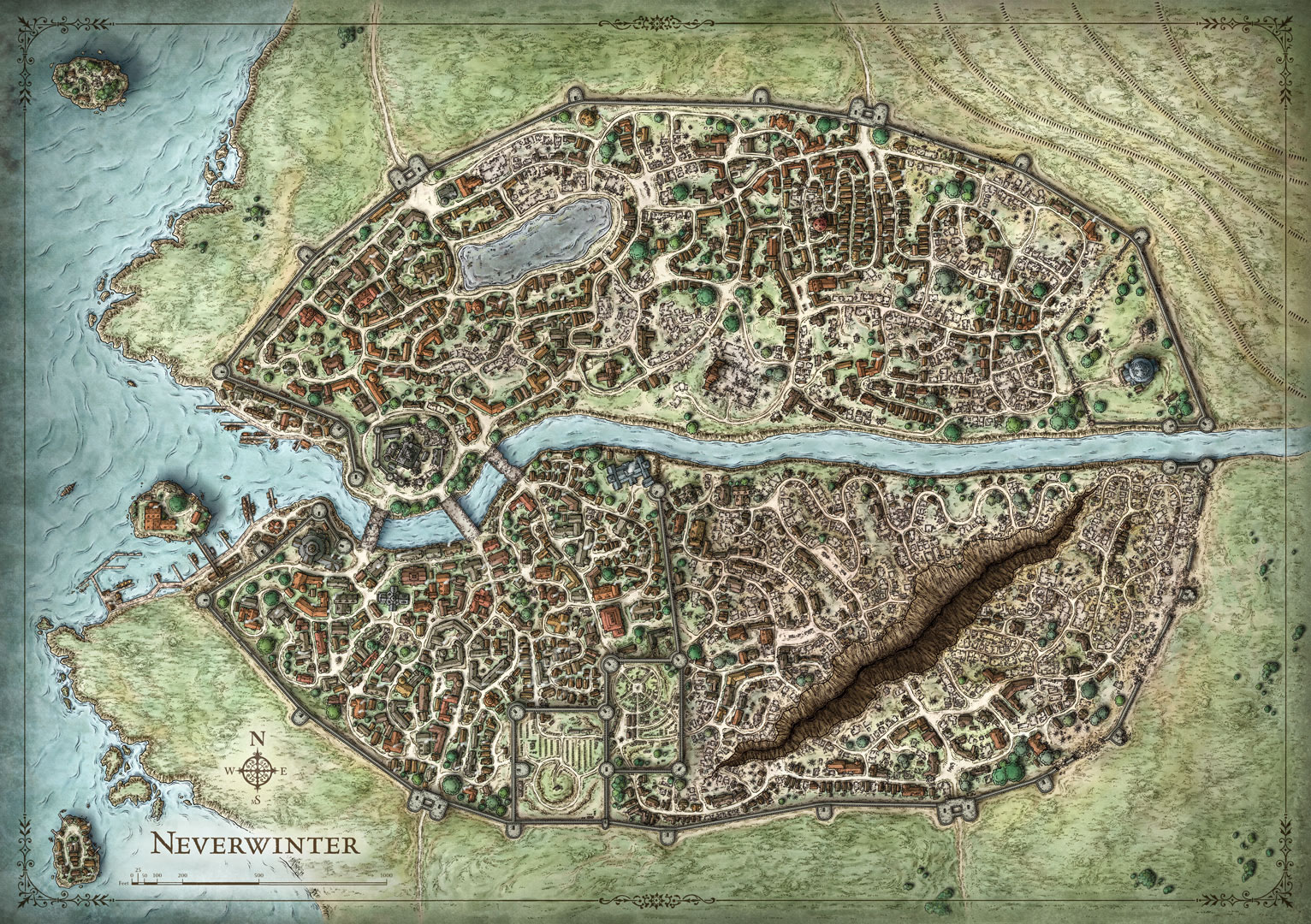 Fictional City Maps on Behance on