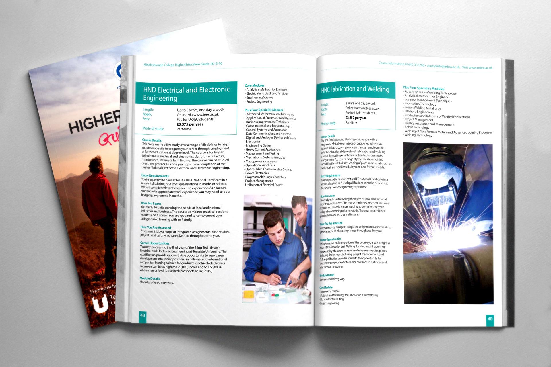 Higher Education Guide 2015-16 on Behance
