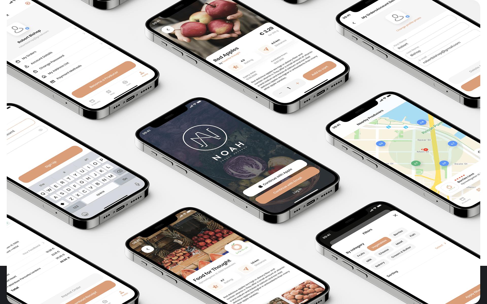 Noah - Farmer Marketplace Mobile App | UI/UX