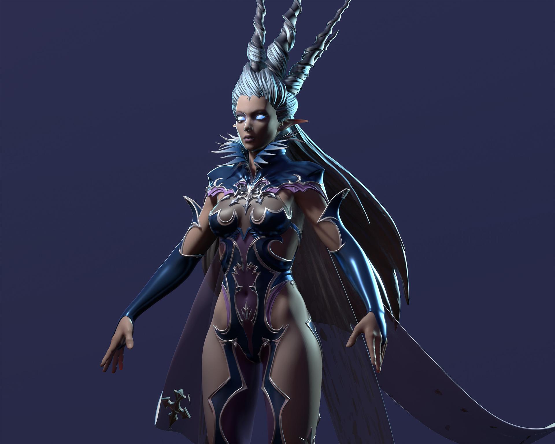 Shiva Final Fantasy XIV Fan art, Sculpt on Behance