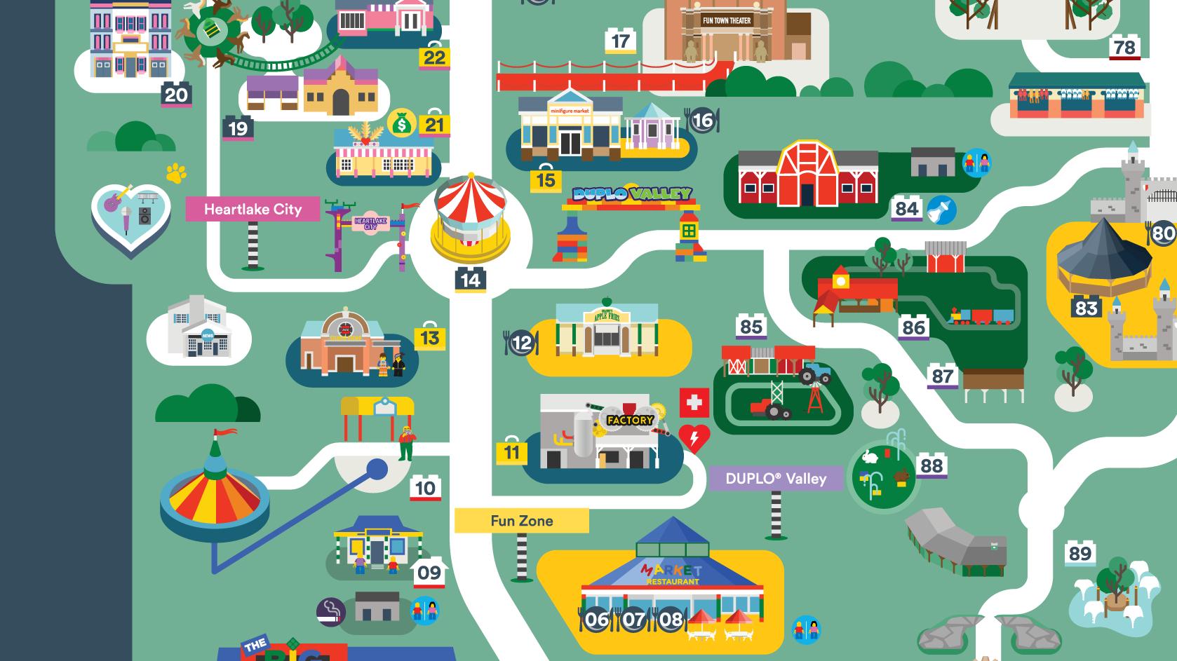 Legoland Map Florida.Legoland Florida Map 2016 On Behance