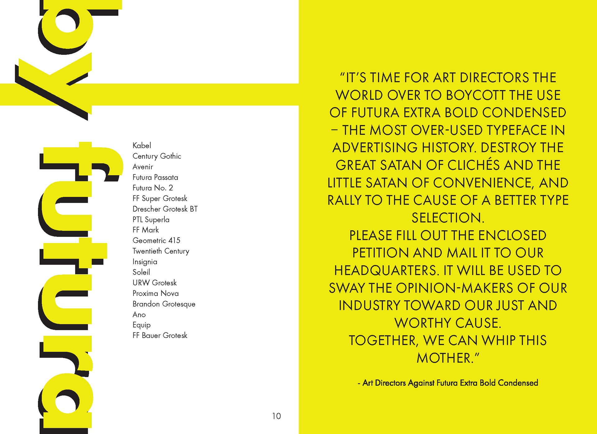 Futura Specimen Book and Promotion Materials on Behance