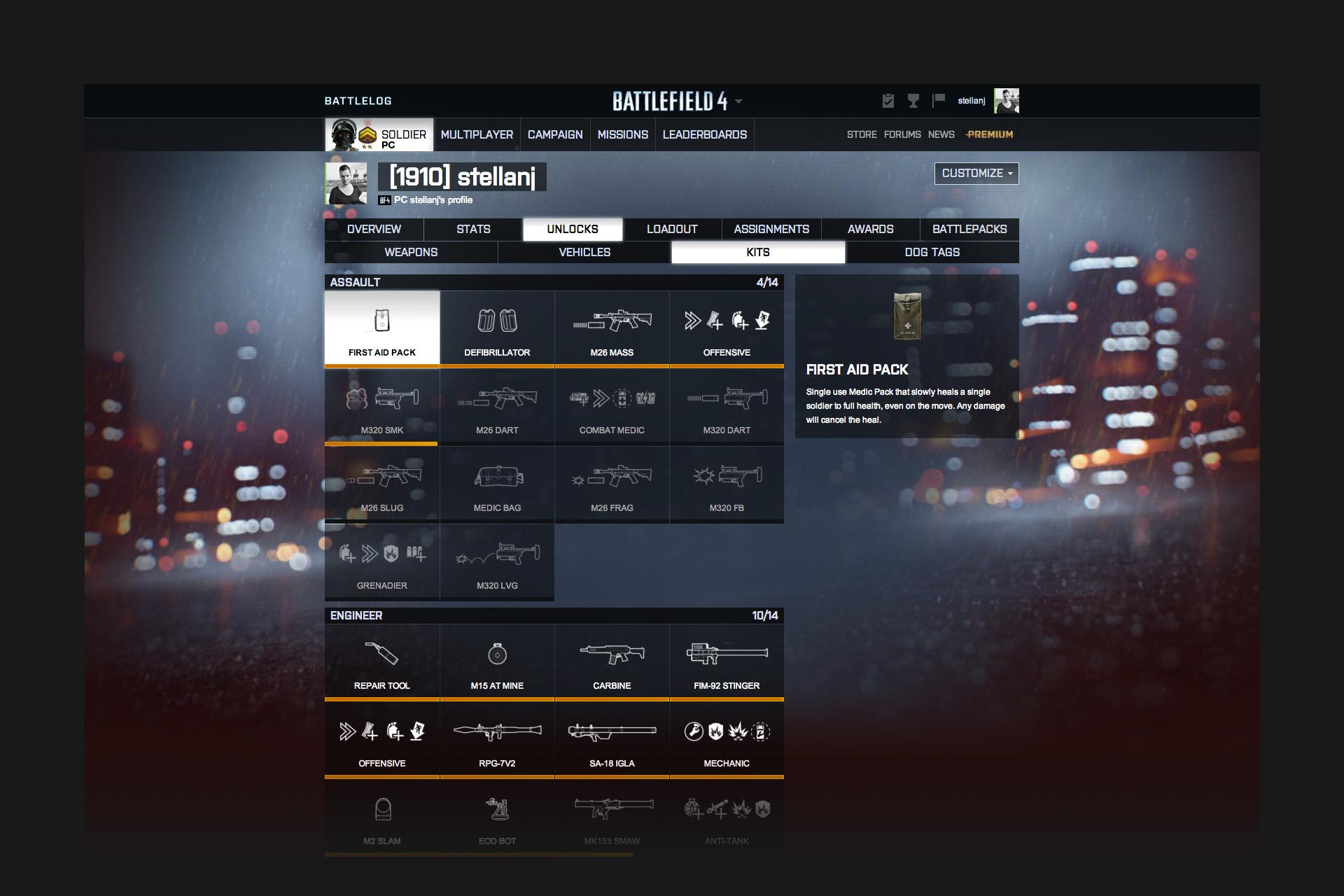Battlelog Battlefield 5