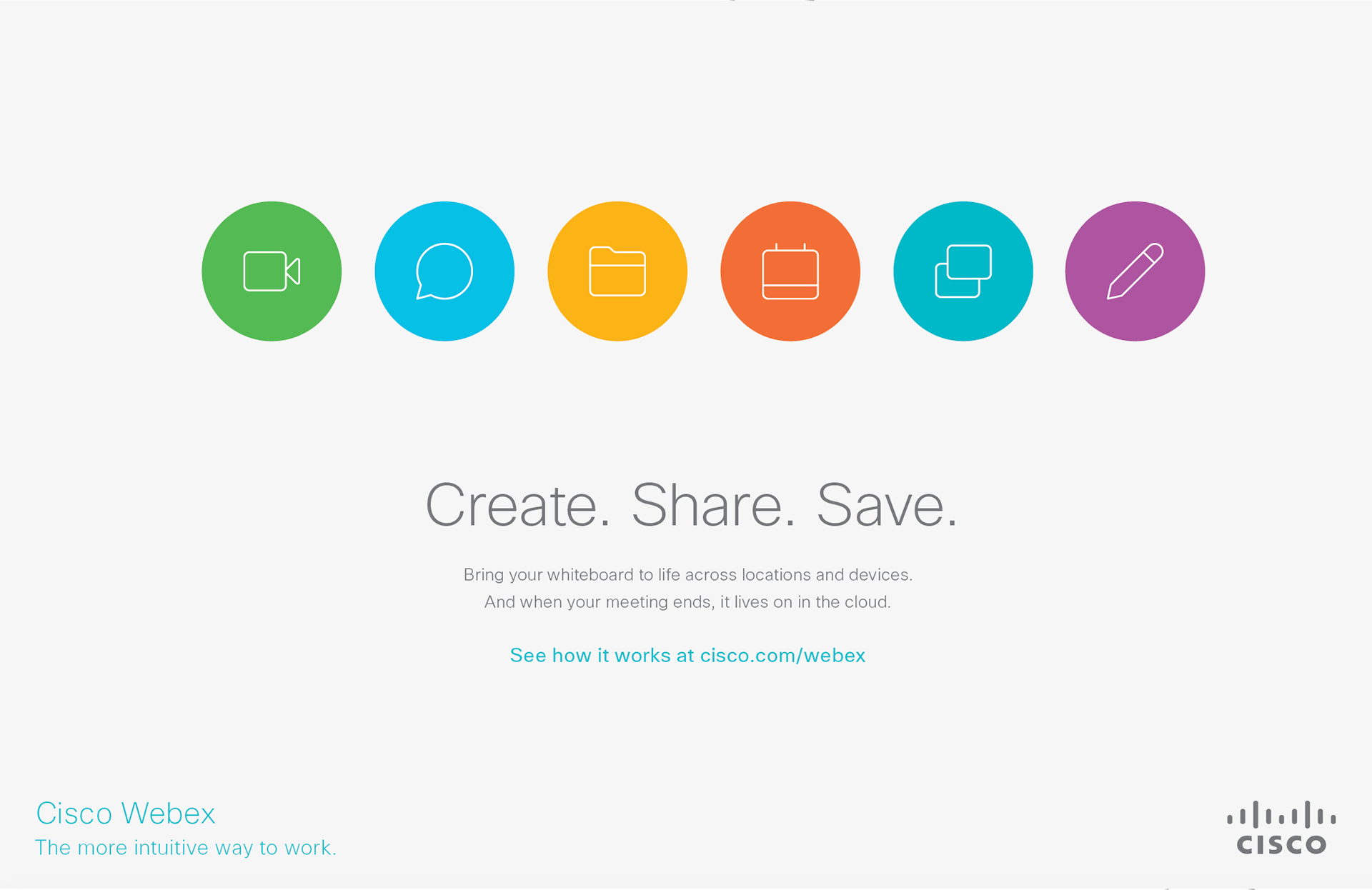 CISCO Webex Social Media Conference Graphics on Behance