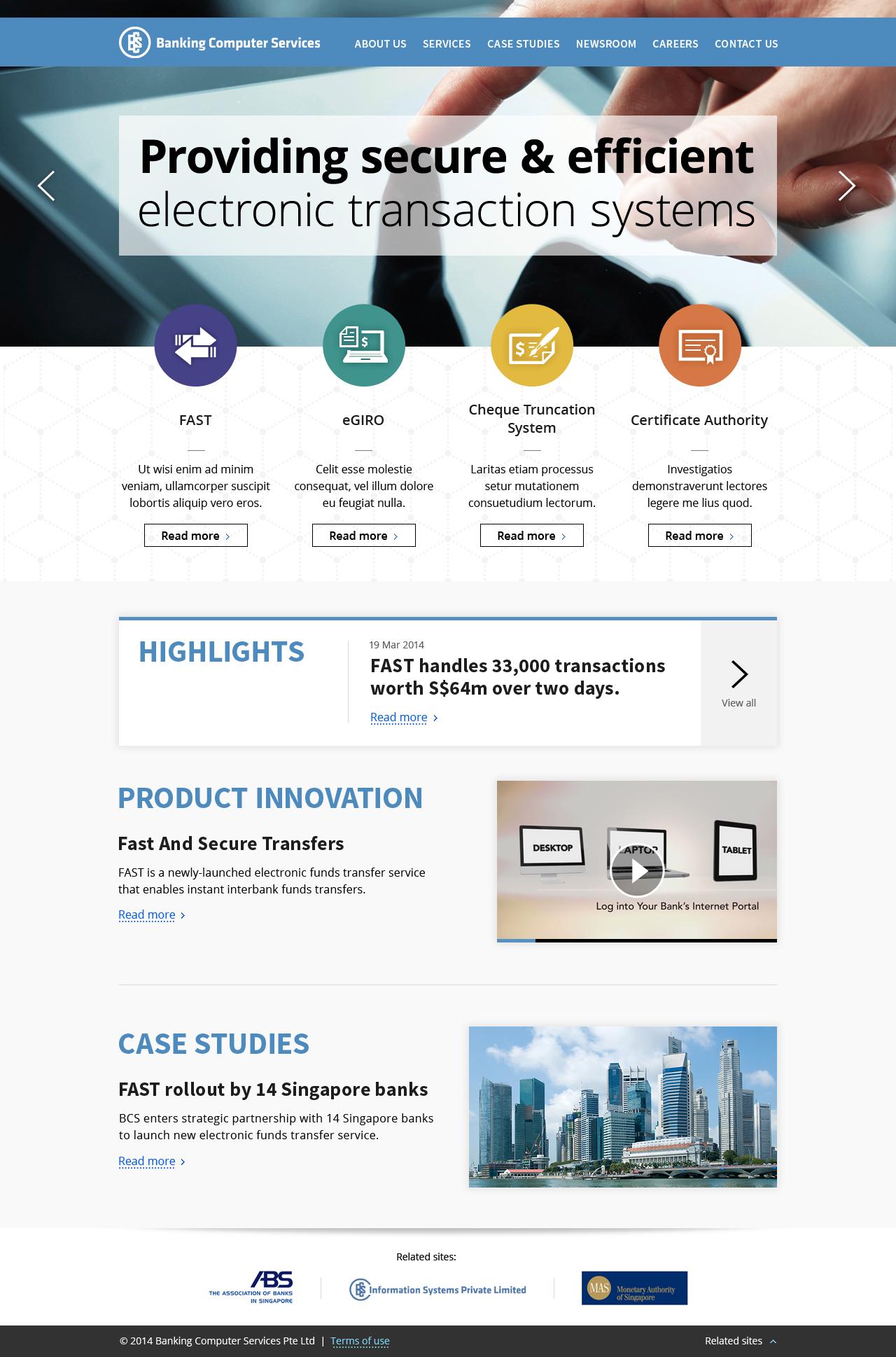 BCS Website Design - http://www bcs sg/ on Behance