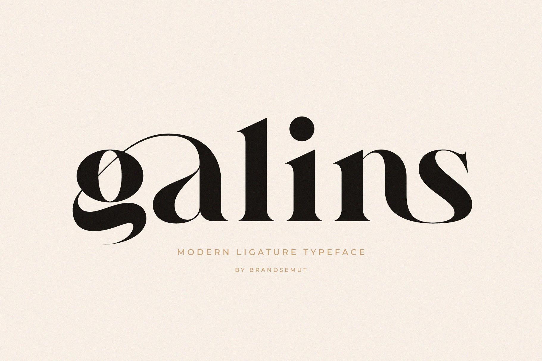 Galins – Ligature Typeface