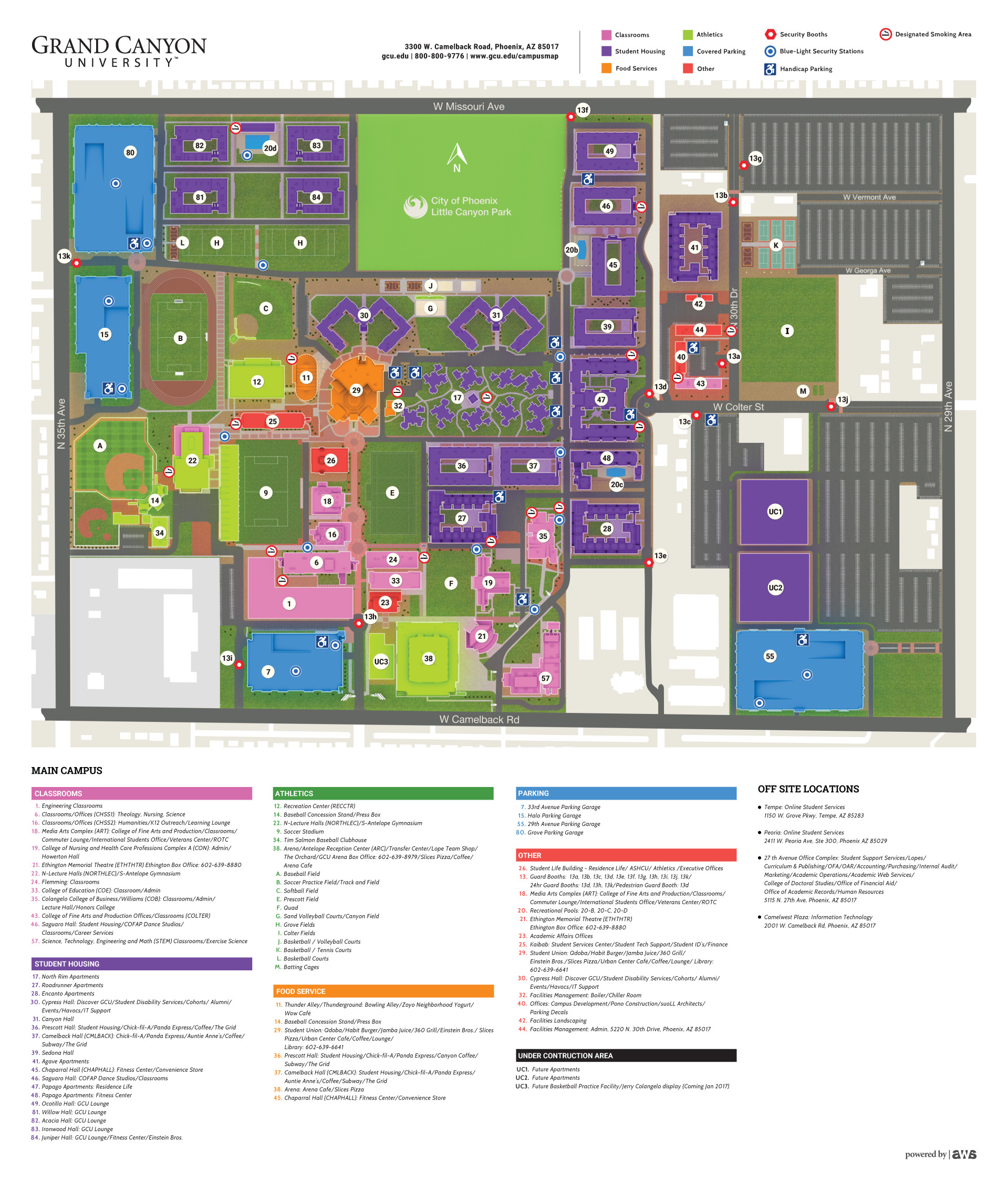 . gcu interactive campus map on behance