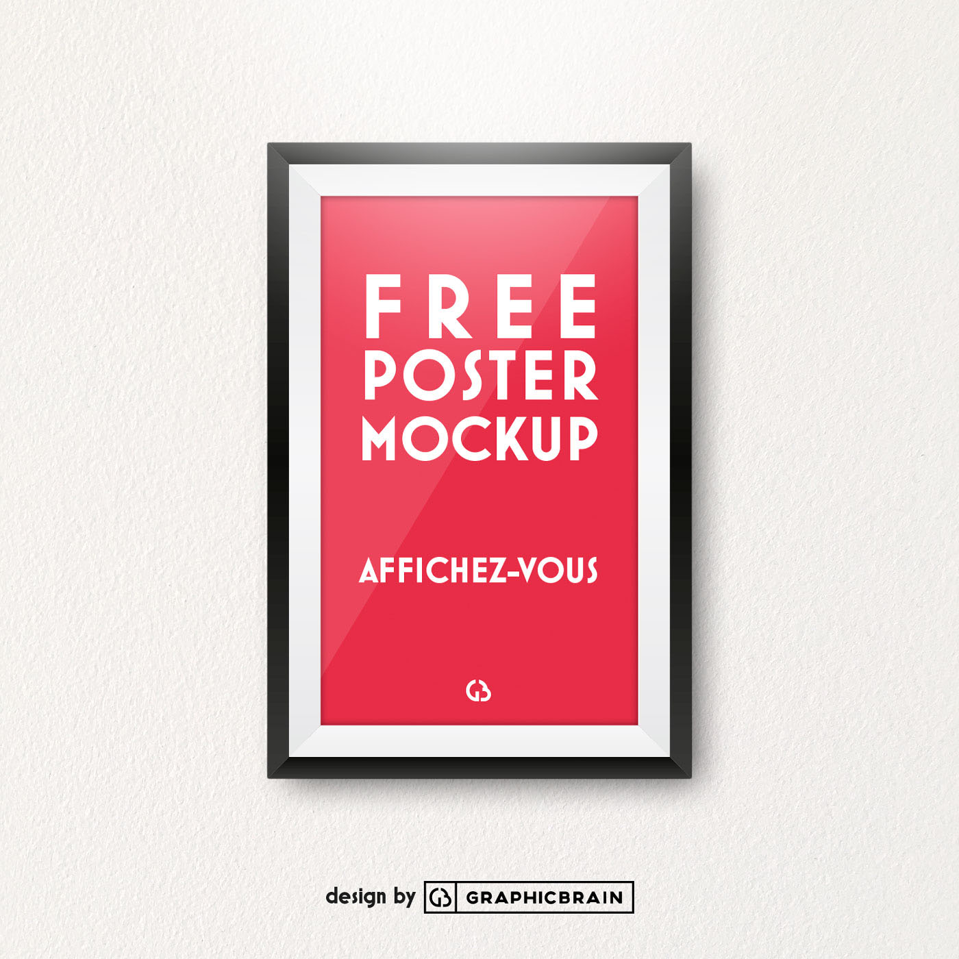 Free Poster mockup on Behance