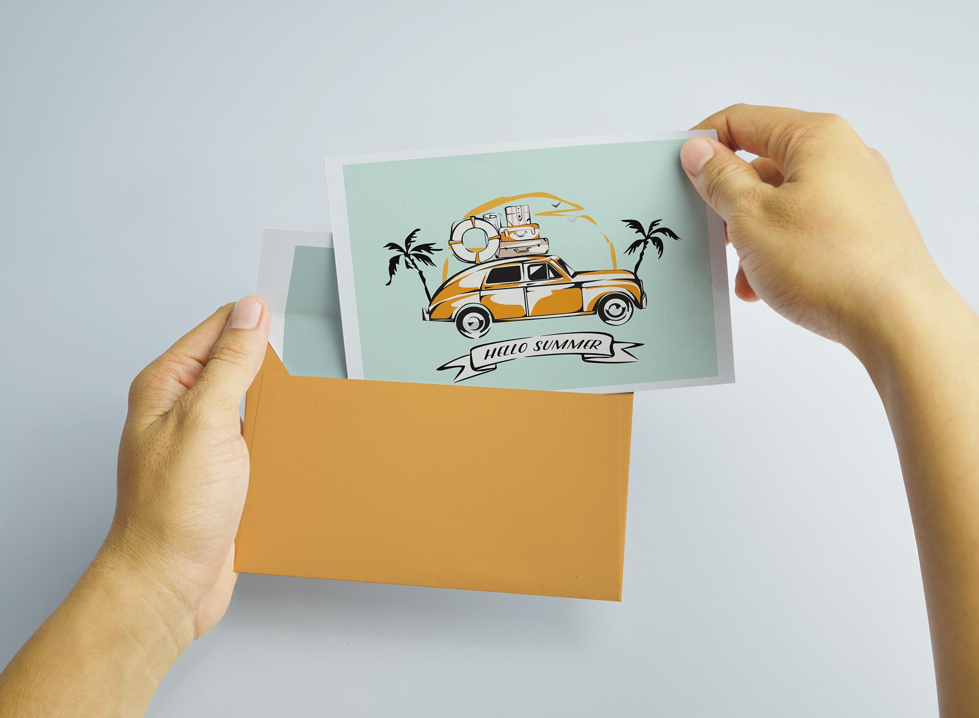 Почтовая открытка со своим дизайном