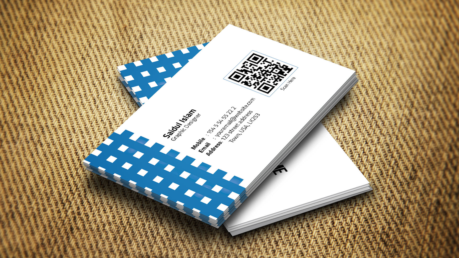 Creative Business Card Template Free On Behance - Single business card template