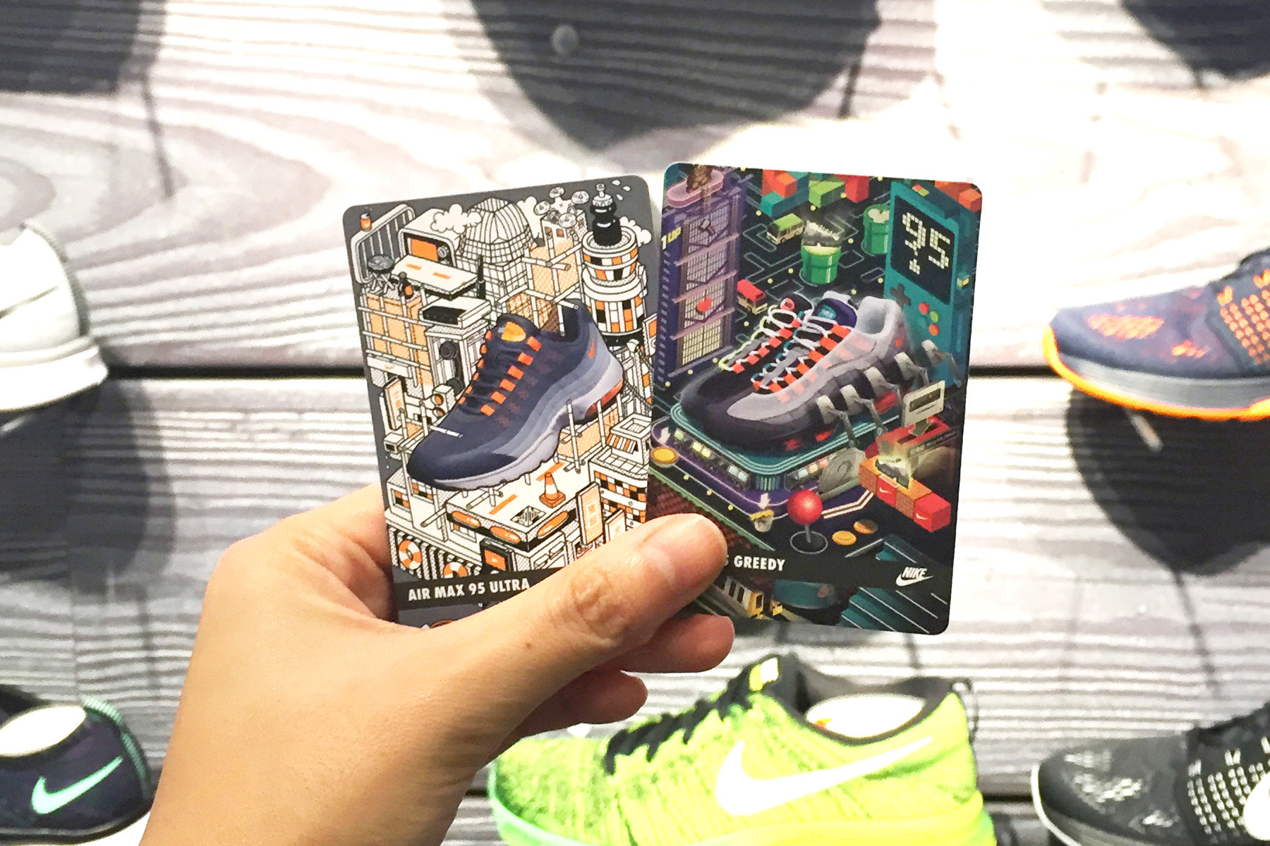 23516c1ef42182 Nike Air Max 95 Collectables cards on Behance