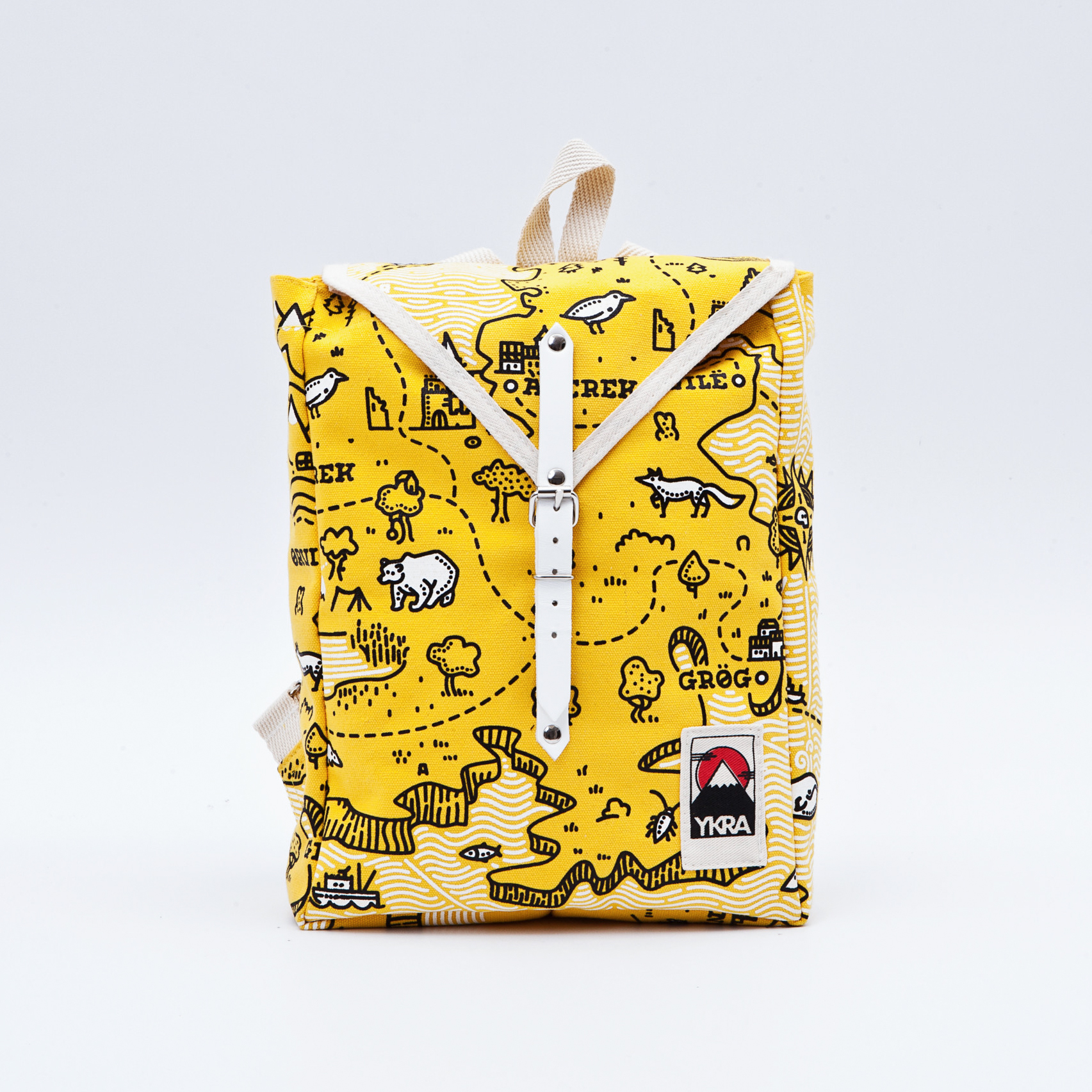 ykra treasure map backpack collection on behance
