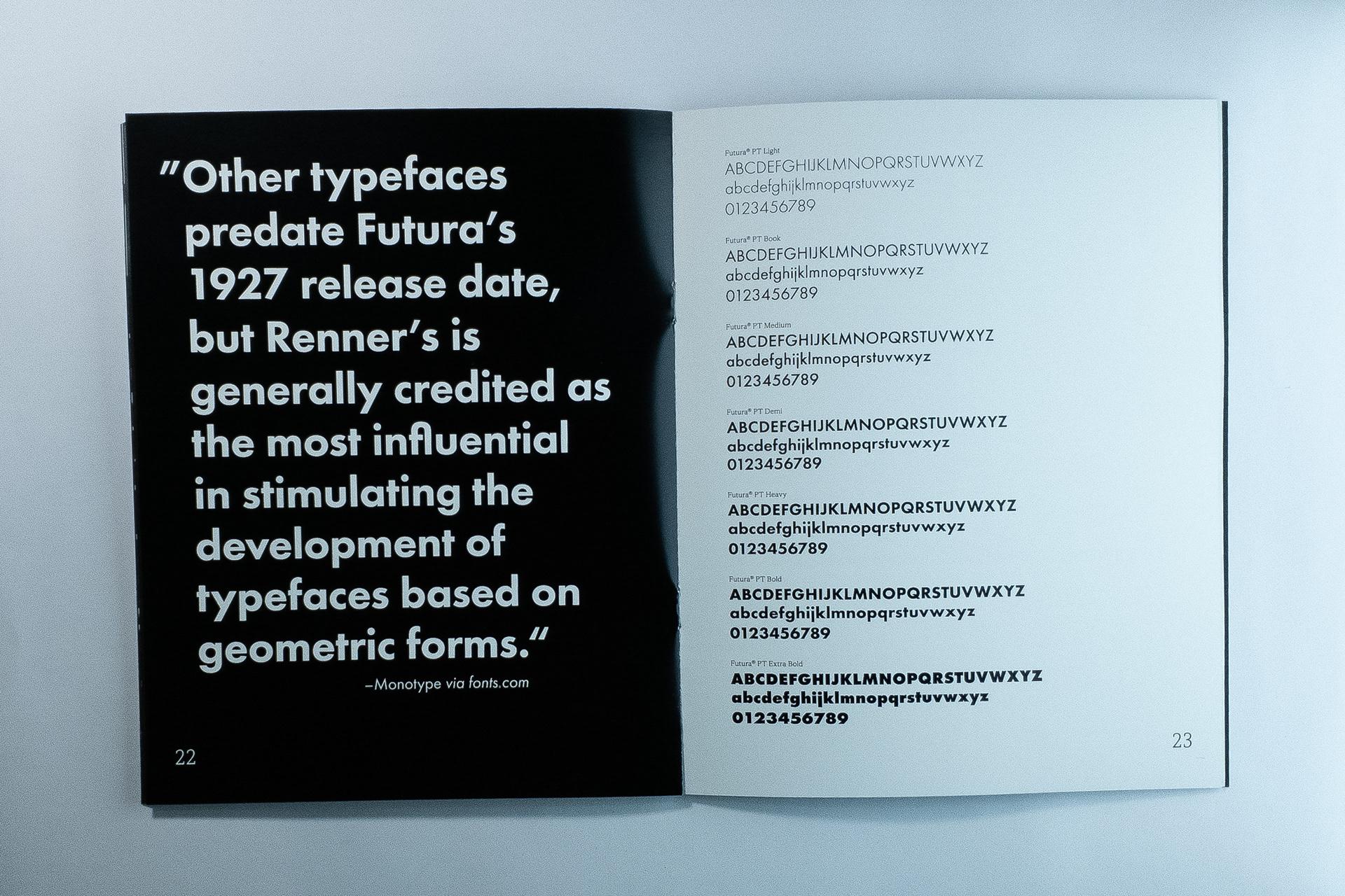 Iconic Sans - Typographic Book on Behance