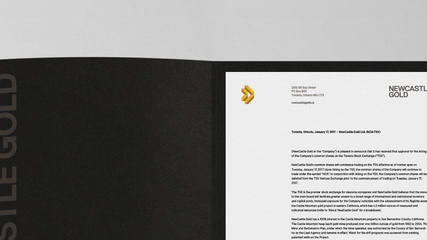 Newcastle Gold Brand Design On Behance