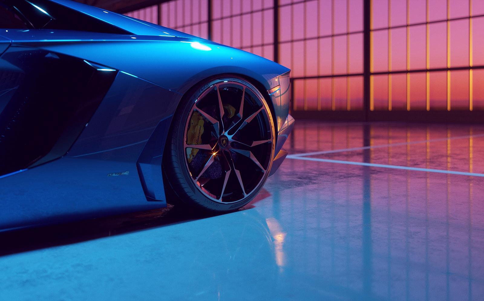 Lamborghini Aventador entirely made in CGI