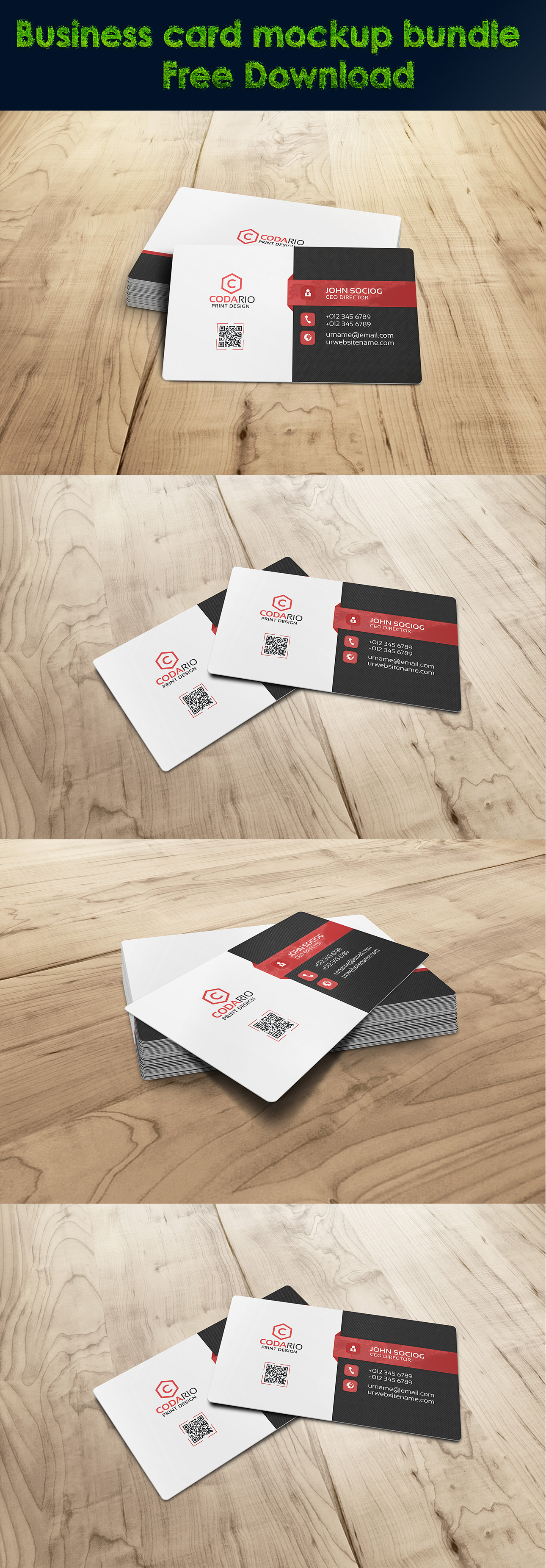 Business card mockup bundle free download on behance reheart Images