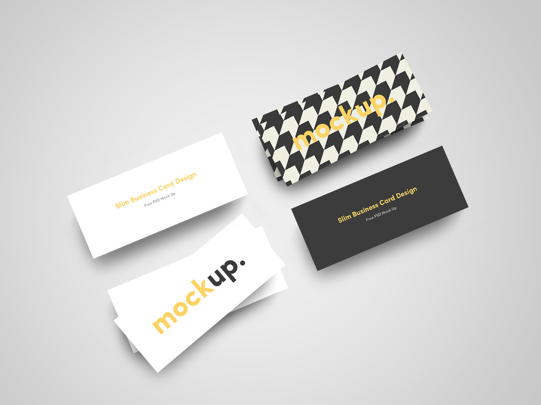 Slim Business Card Mock Up FREE on Behance