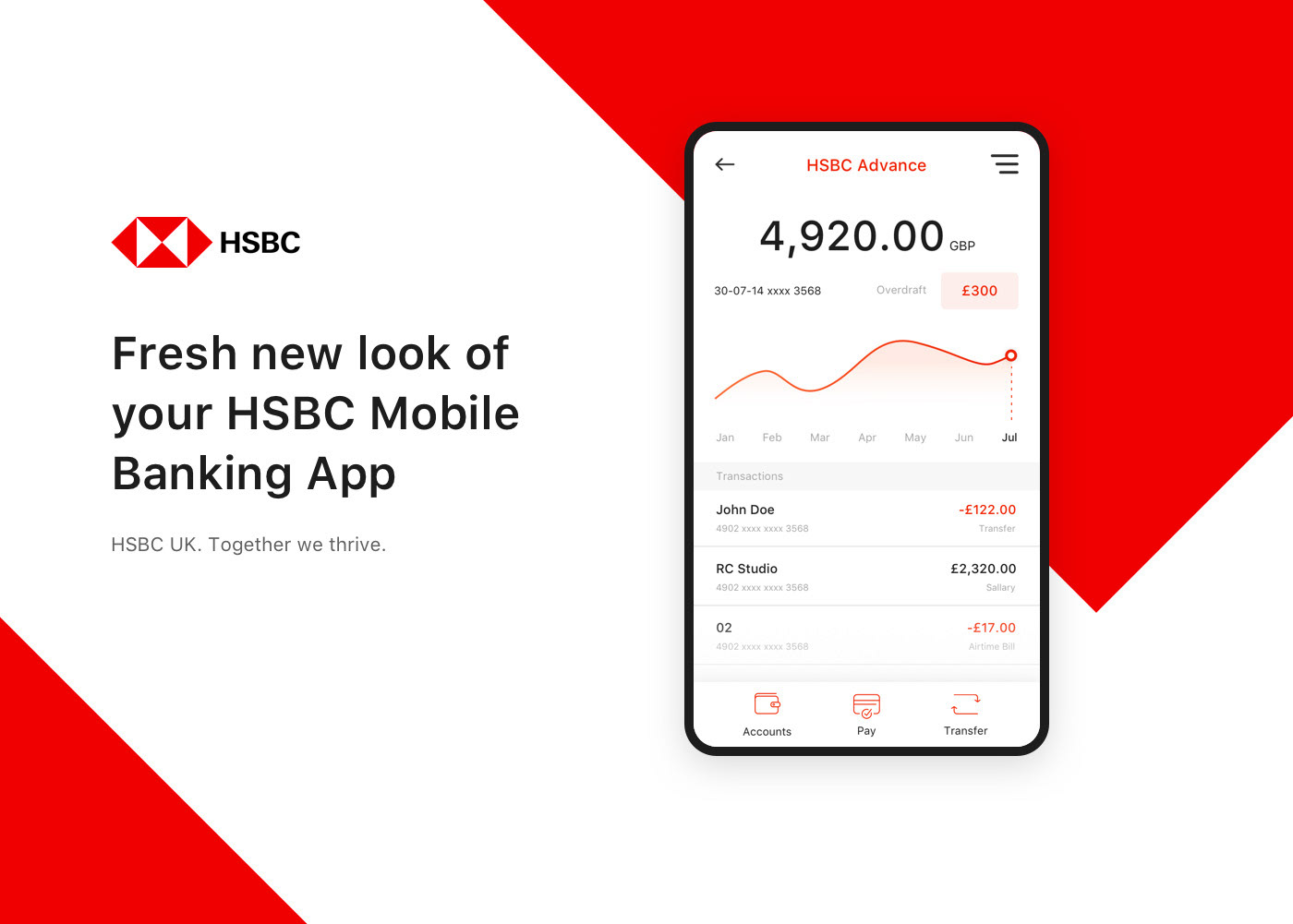 HSBC Mobile Banking App on Behance