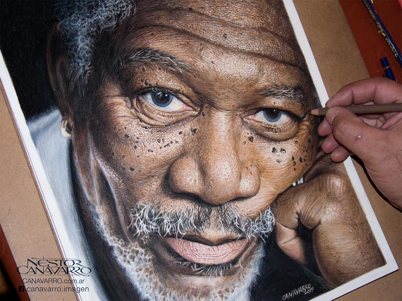 Morgan freeman eye color