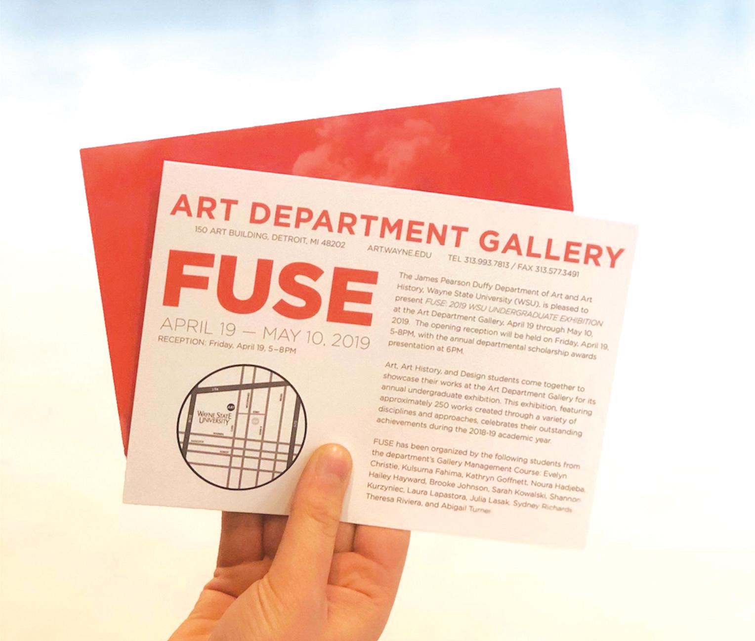 FUSE - Wayne State Art Exhibition on Behance