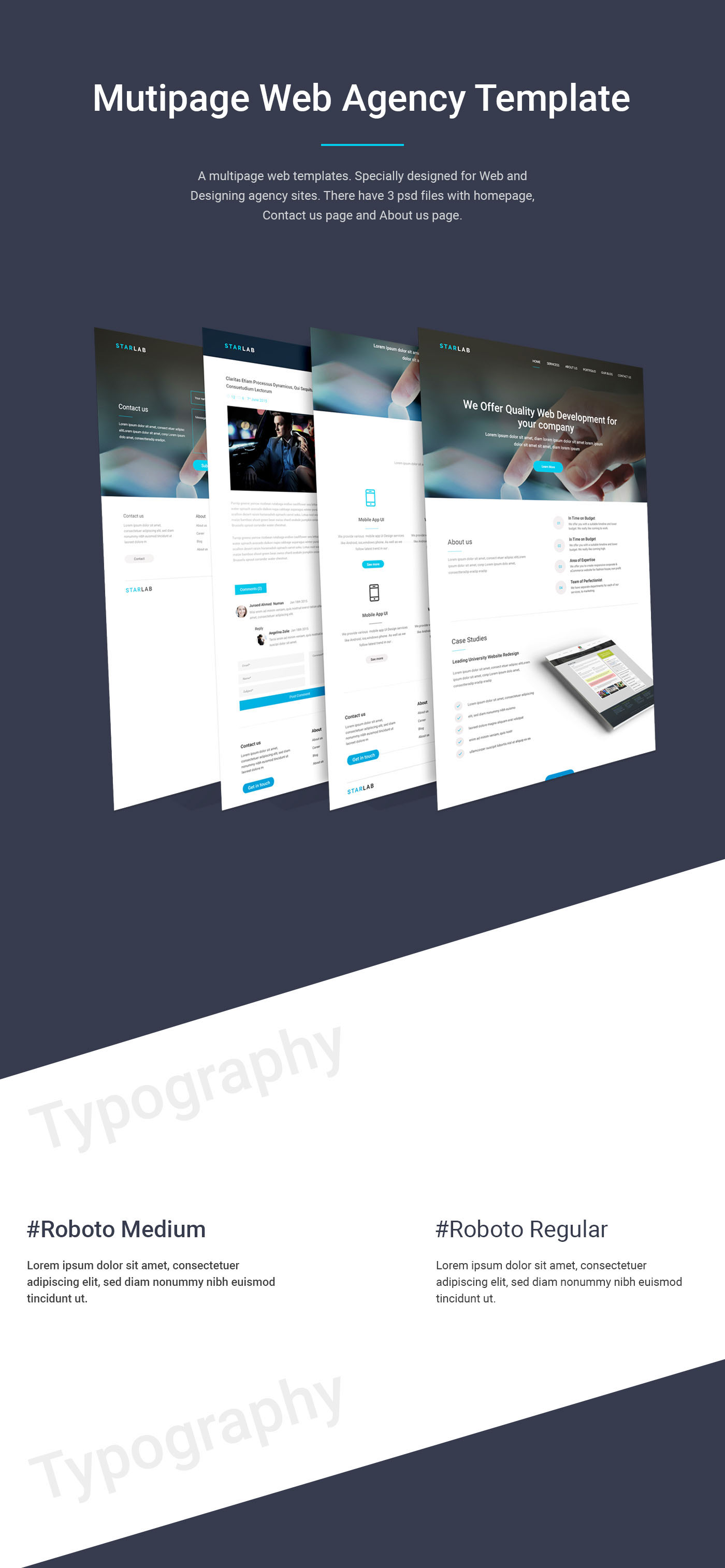 Multipage Web Agency Template On Behance