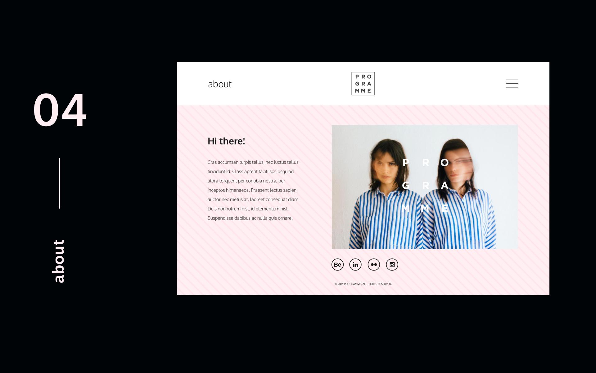 Programme - Portfolio Inspiration