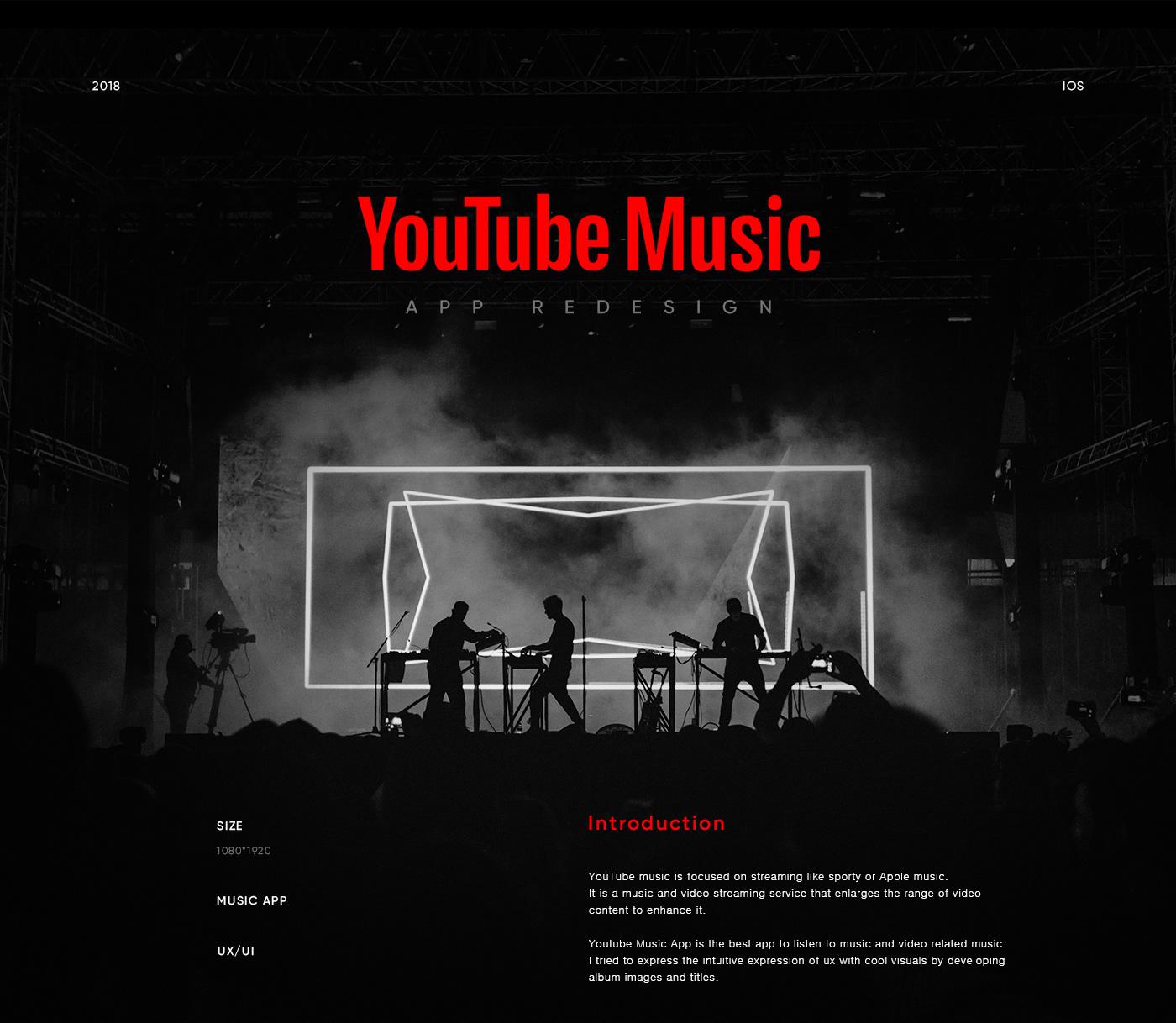 YouTube Music app redesign on Behance
