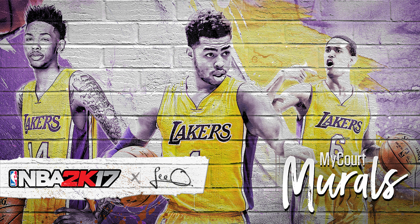 Nba 2k17 mycourt murals on behance my dream project amipublicfo Image collections